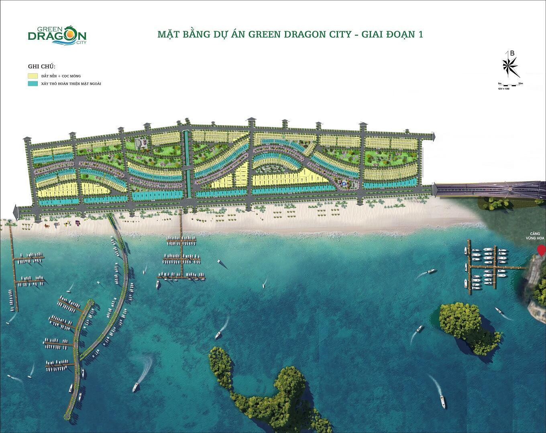 mặt bằng dự án green dragon city cẩm phả giai đoạn 1