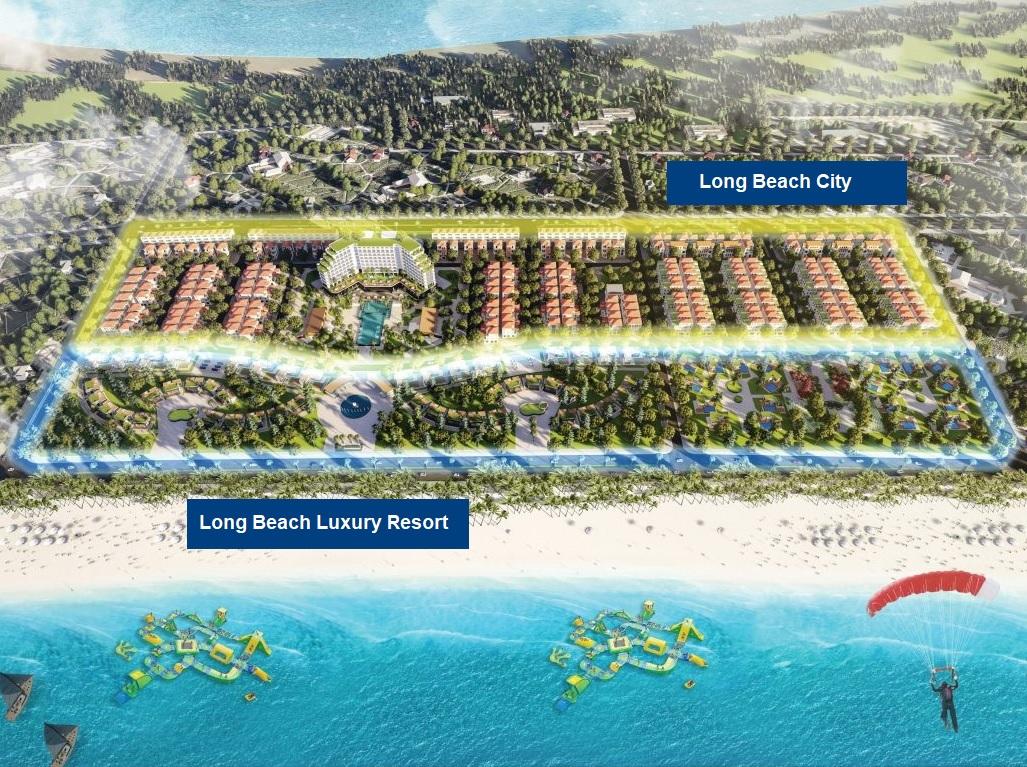 phân khu dự án trà cổ long beach luxury