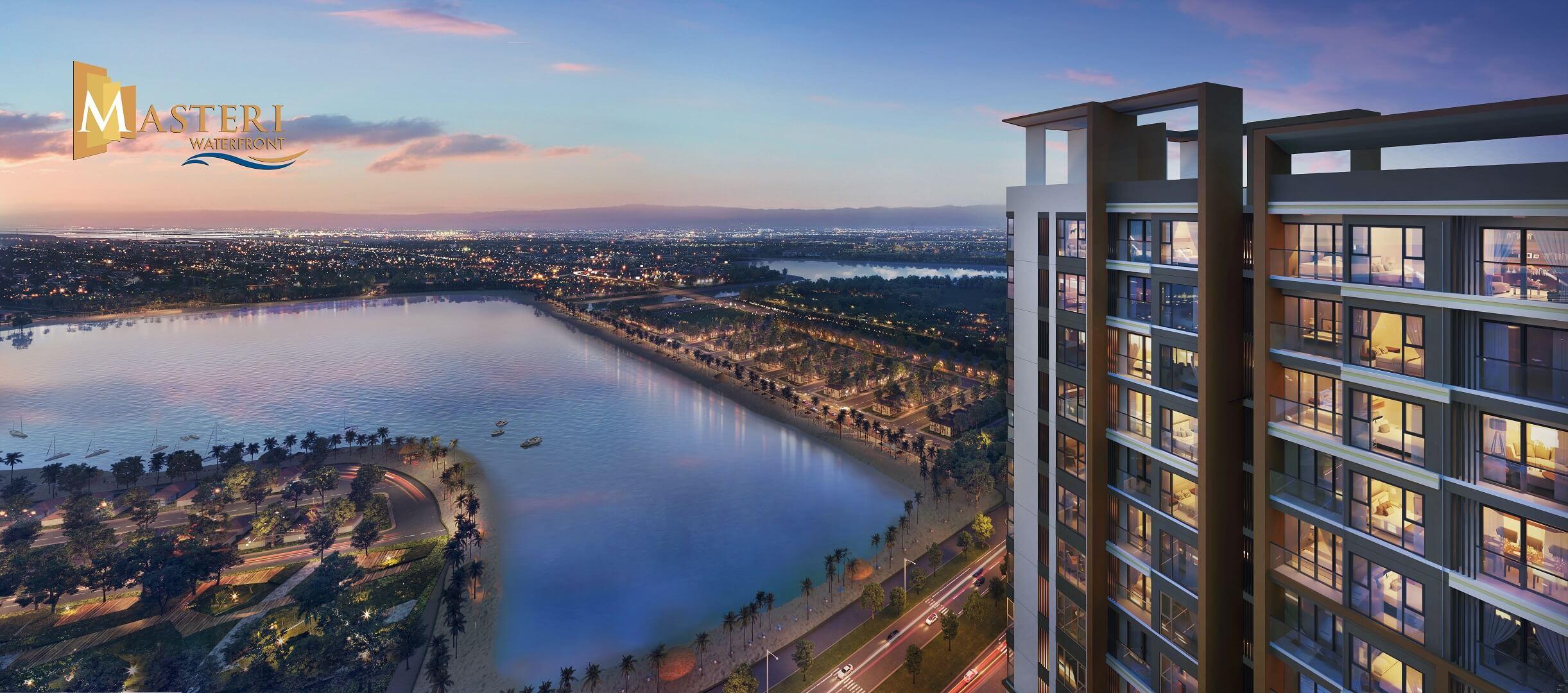 view hồ từ căn hộ masteri ocean park