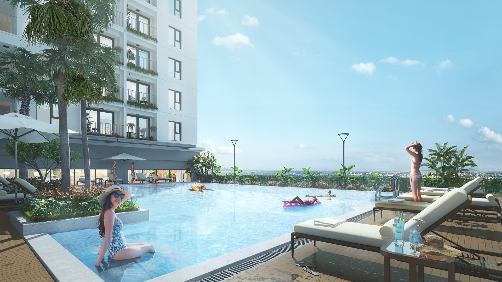 bể bơi dự án geleximco southern star giải phóng