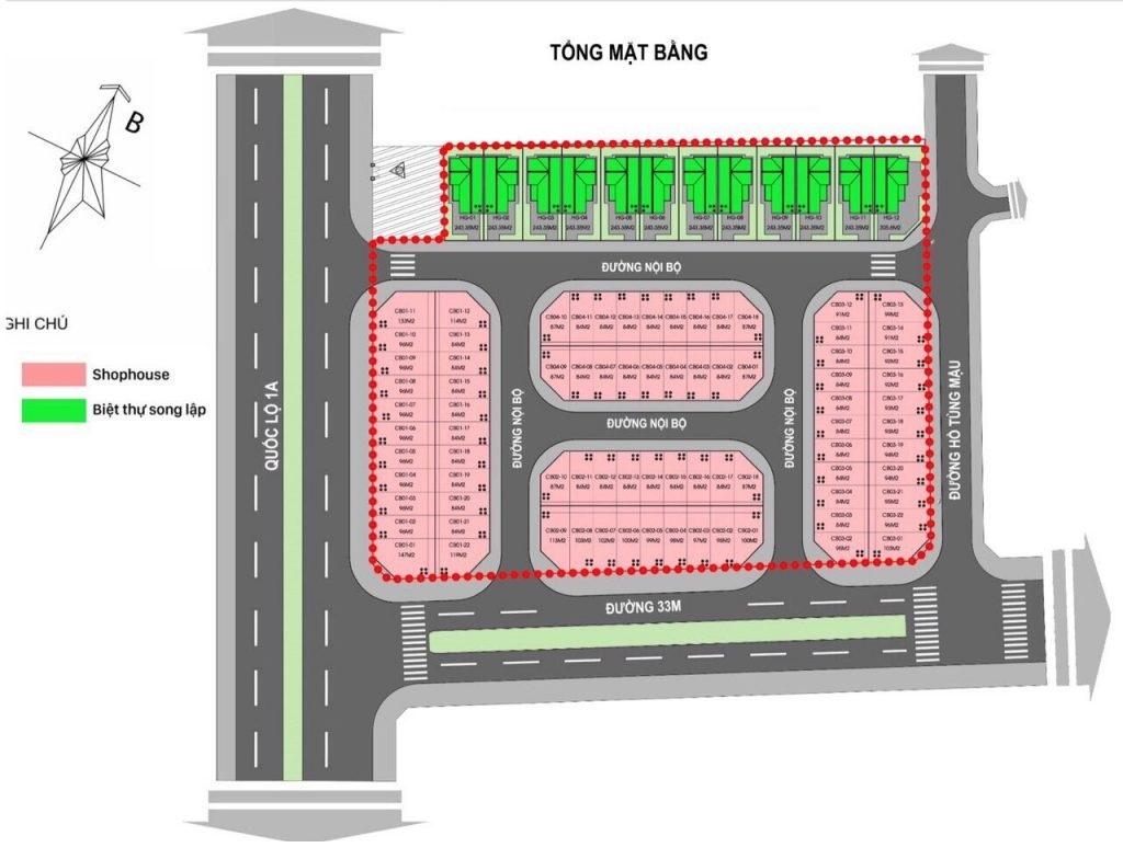 Mặt bằng phân lô dự án Catalan Boulevard Lạng Sơn