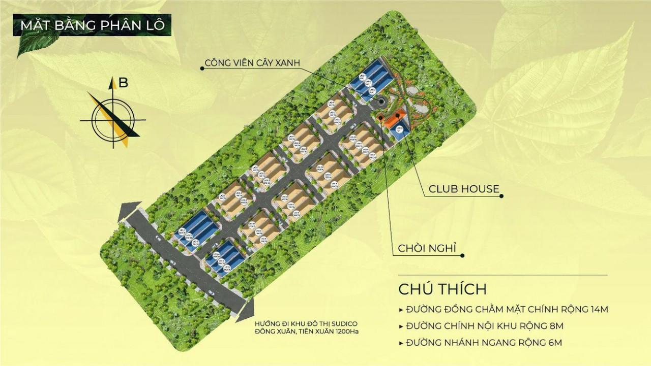 mặt bằng dự án hòa lạc charm villas