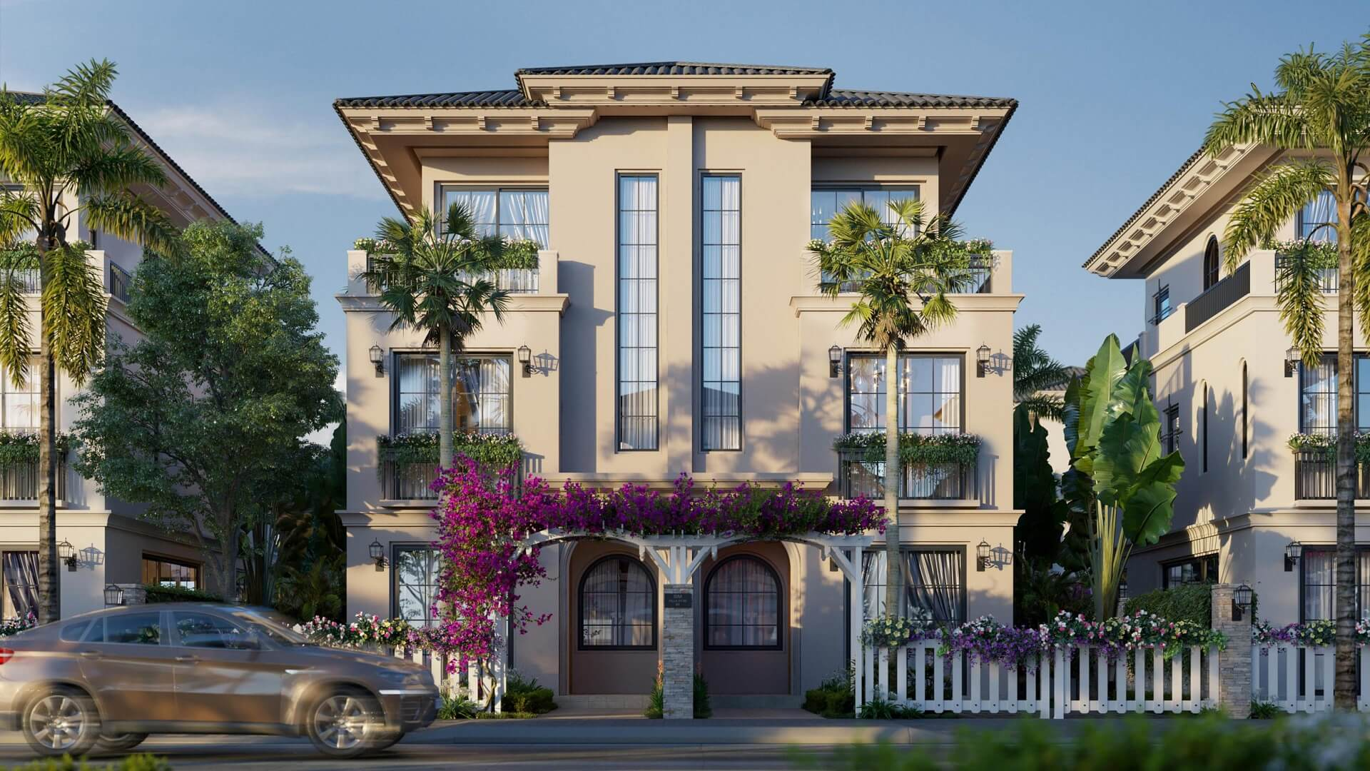 Phối cảnh villa Aragon dự án The Residence Phú Quốc