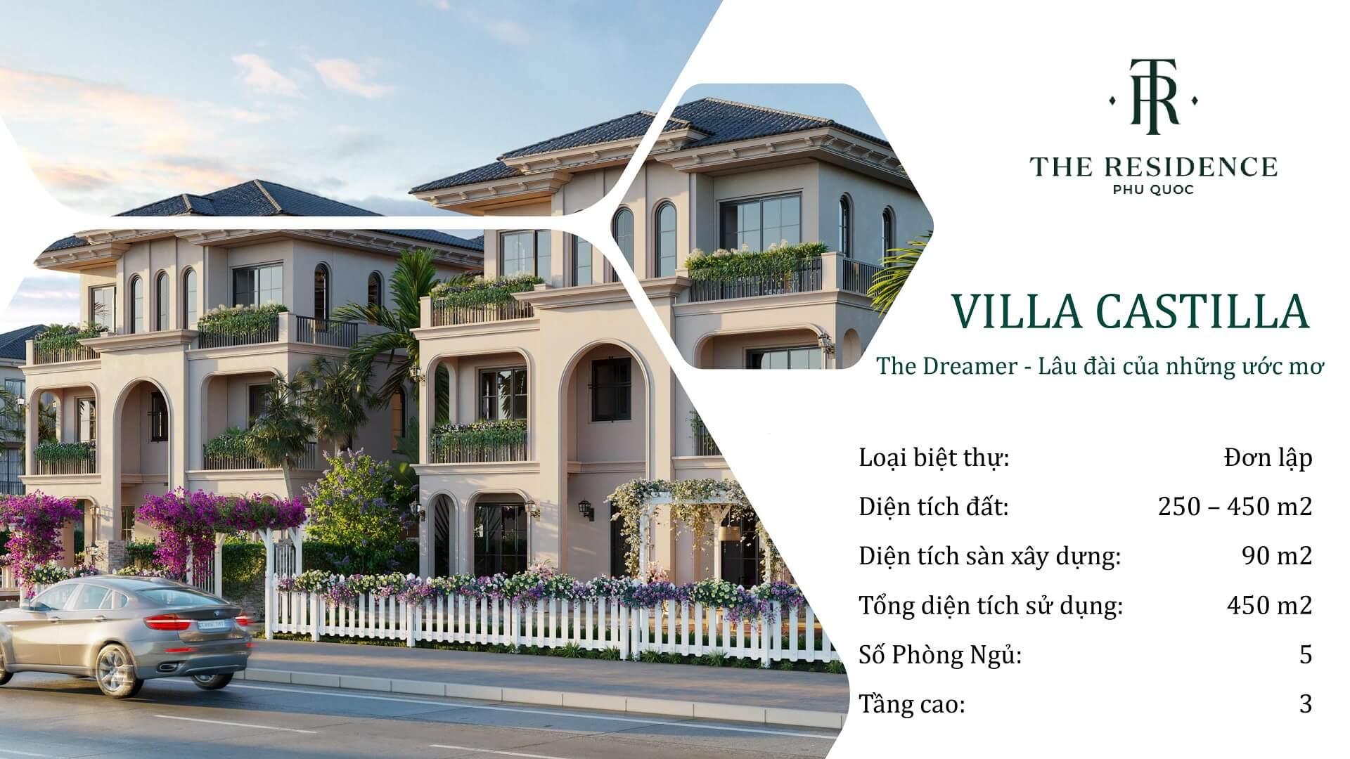 villa the residence phú quốc loại castilla