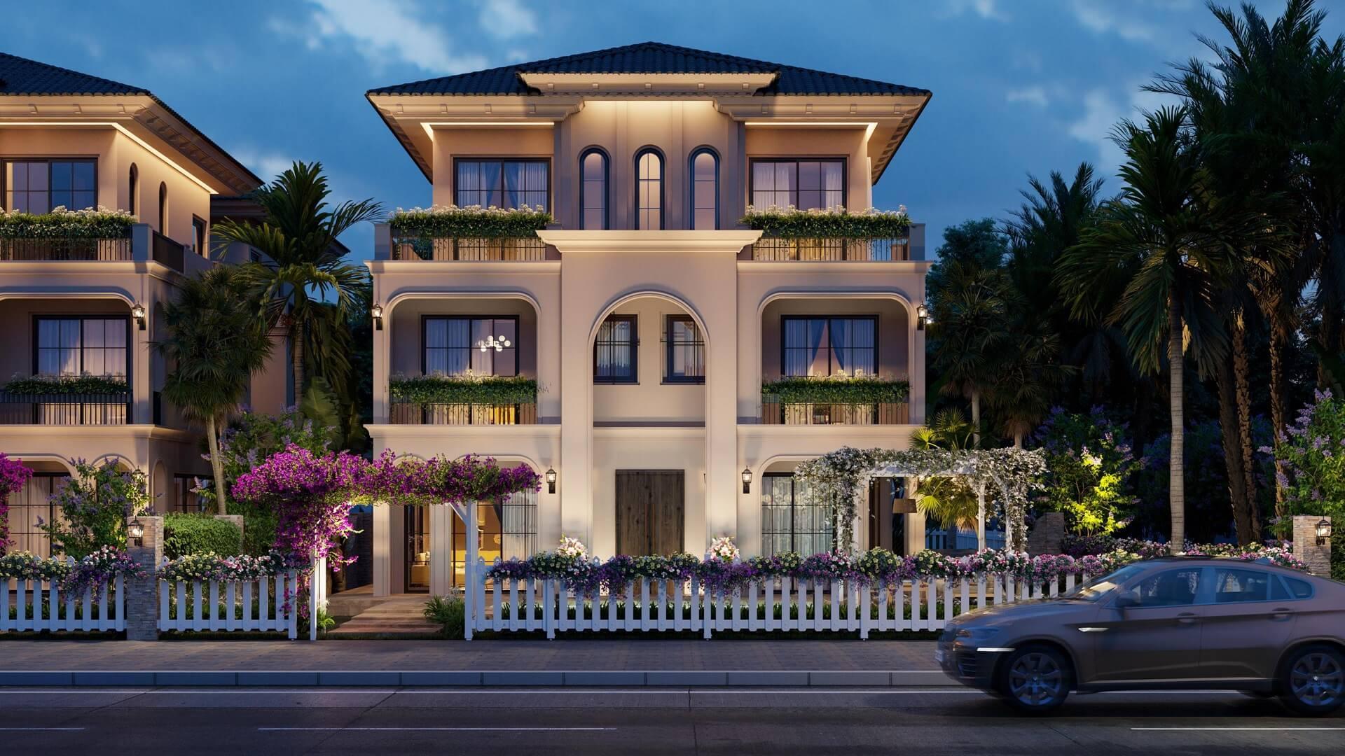 Phối cảnh villa Castilla dự án The Residence Phú Quốc