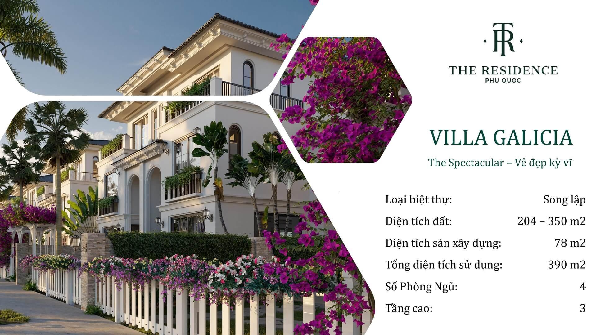 villa the residence phú quốc loại galicia