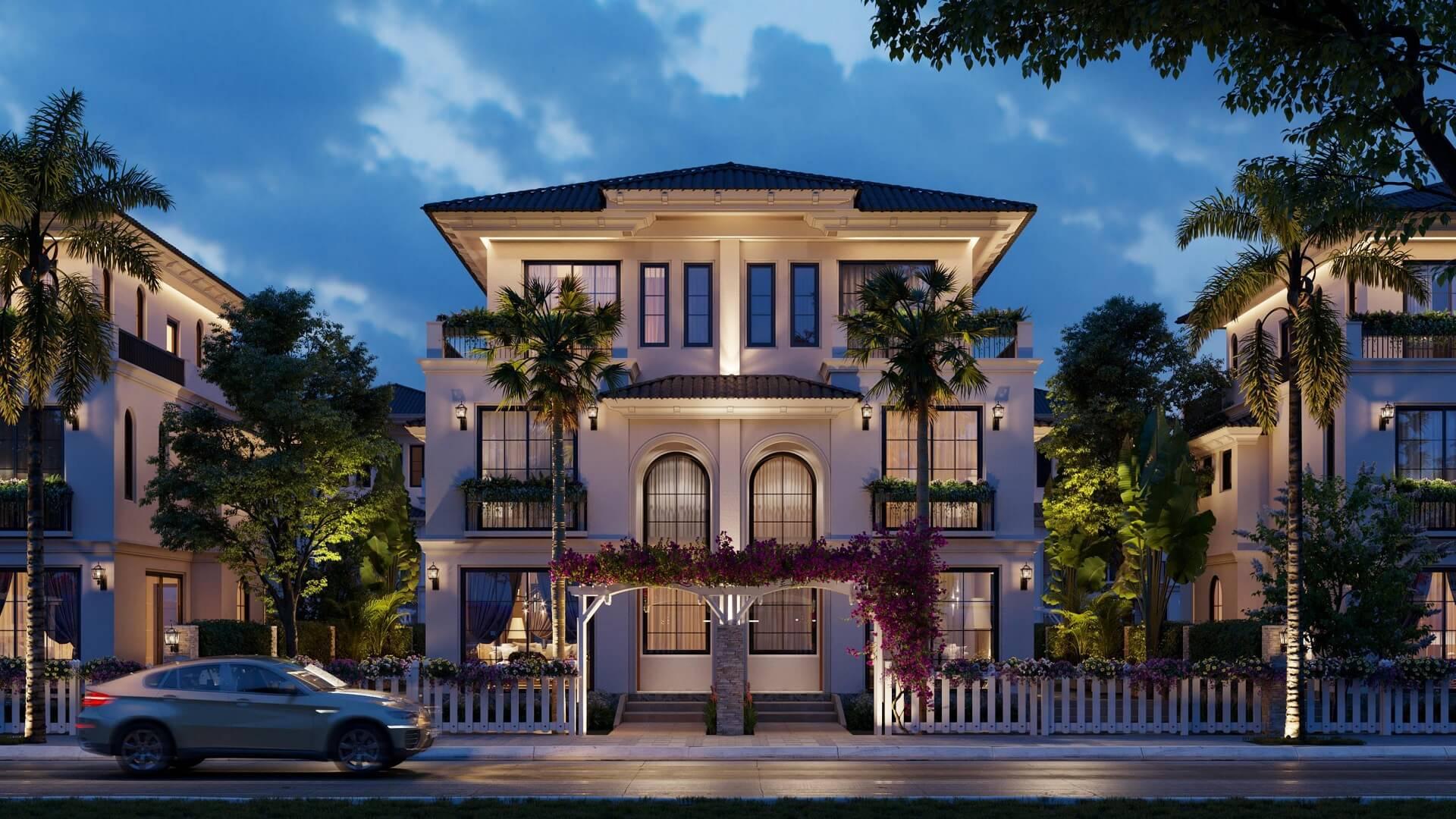 Phối cảnh villa Galicia dự án The Residence Phú Quốc