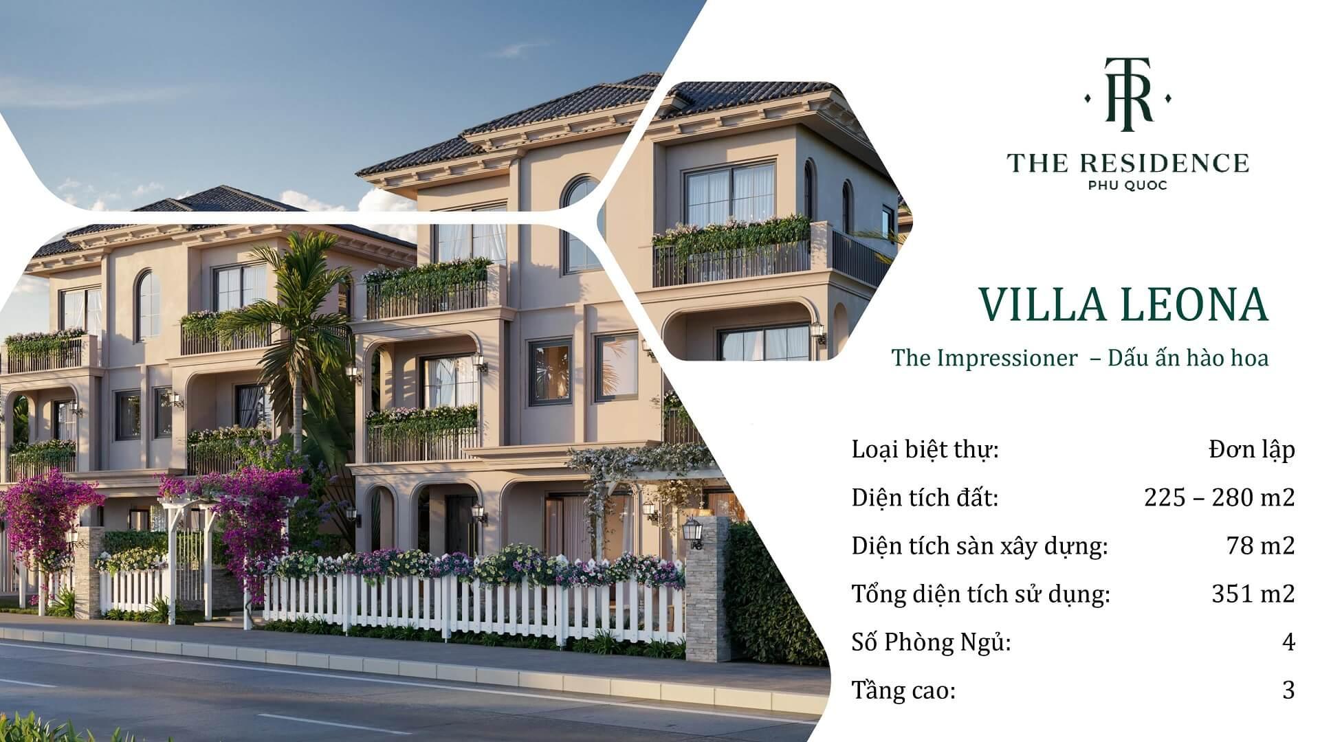 villa the residence phú quốc loại leona