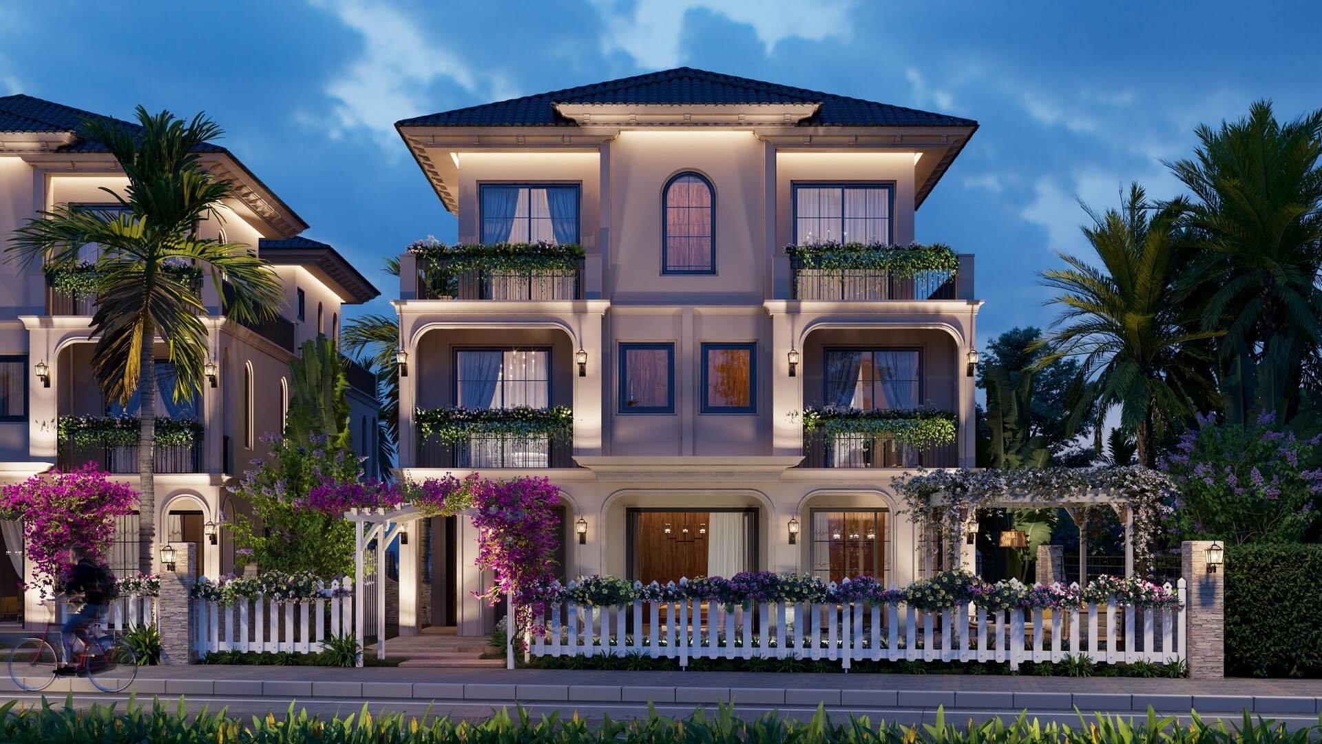 Phối cảnh villa Leona dự án The Residence Phú Quốc