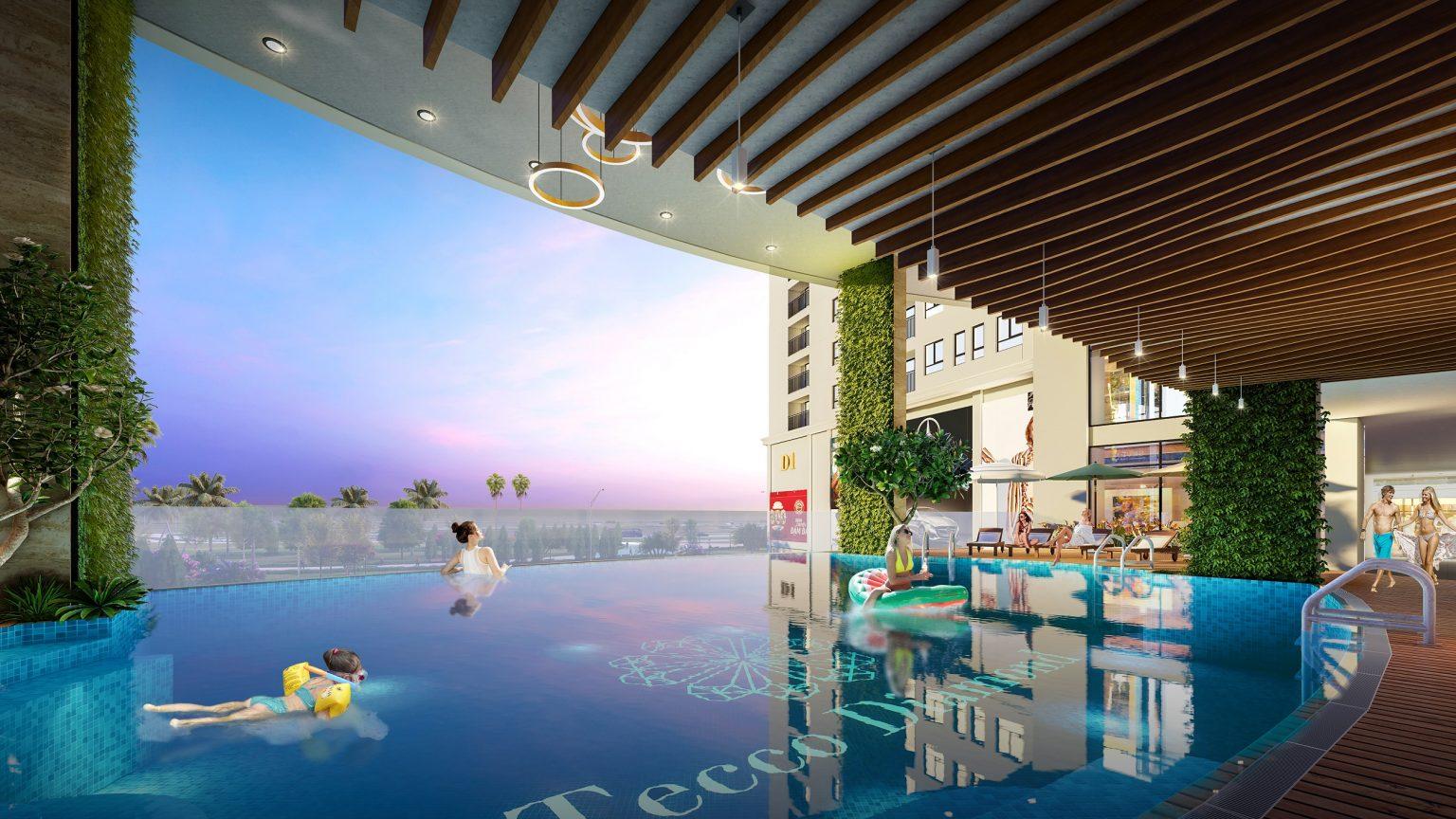 bể bơi dự án tecco diamond