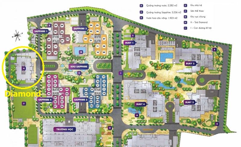 mặt bằng tổng thể dự án goldmark city