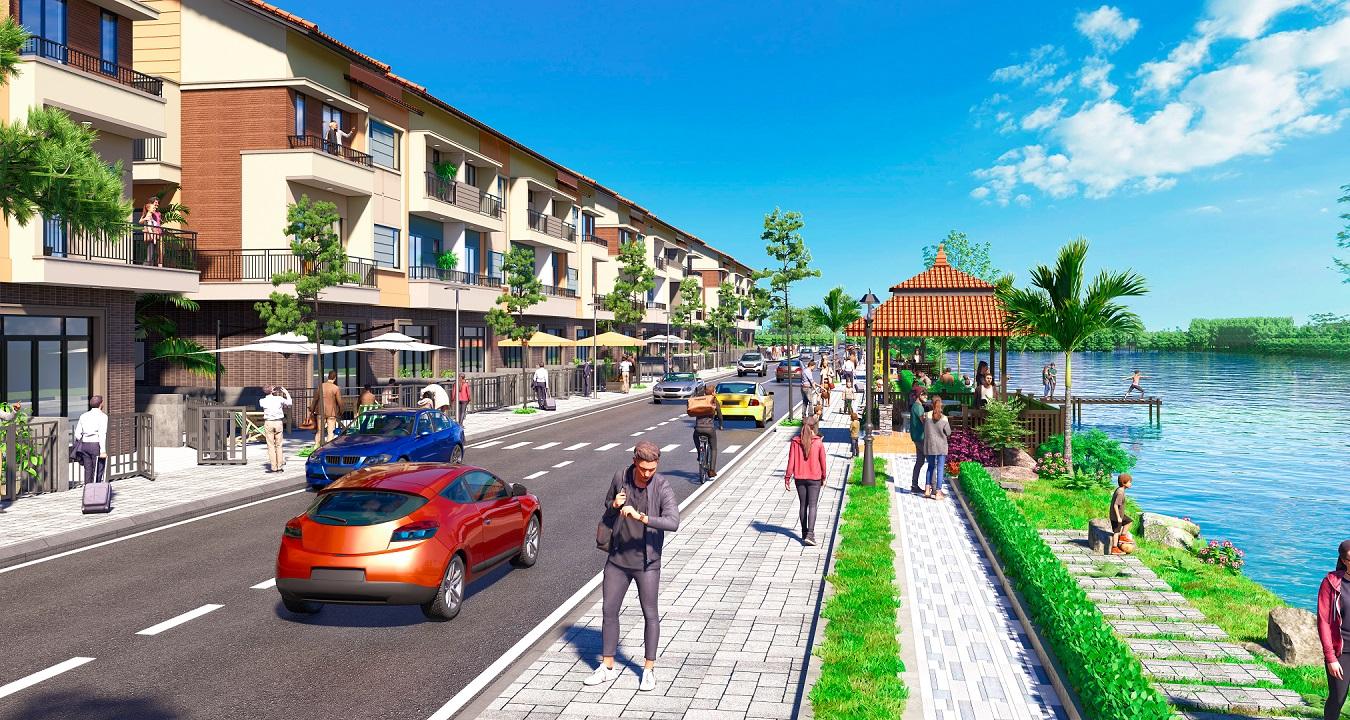 Phối cảnh nhà phố thương mại Centa Shophouse Từ Sơn - Bắc Ninh