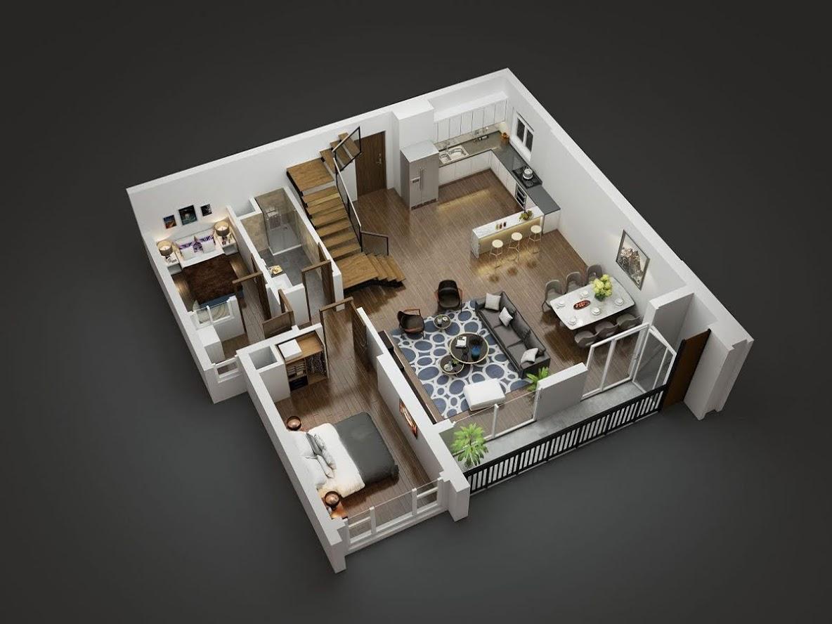 Tầng 1 căn duplex Goldmark City 136 Hồ Tùng Mậu