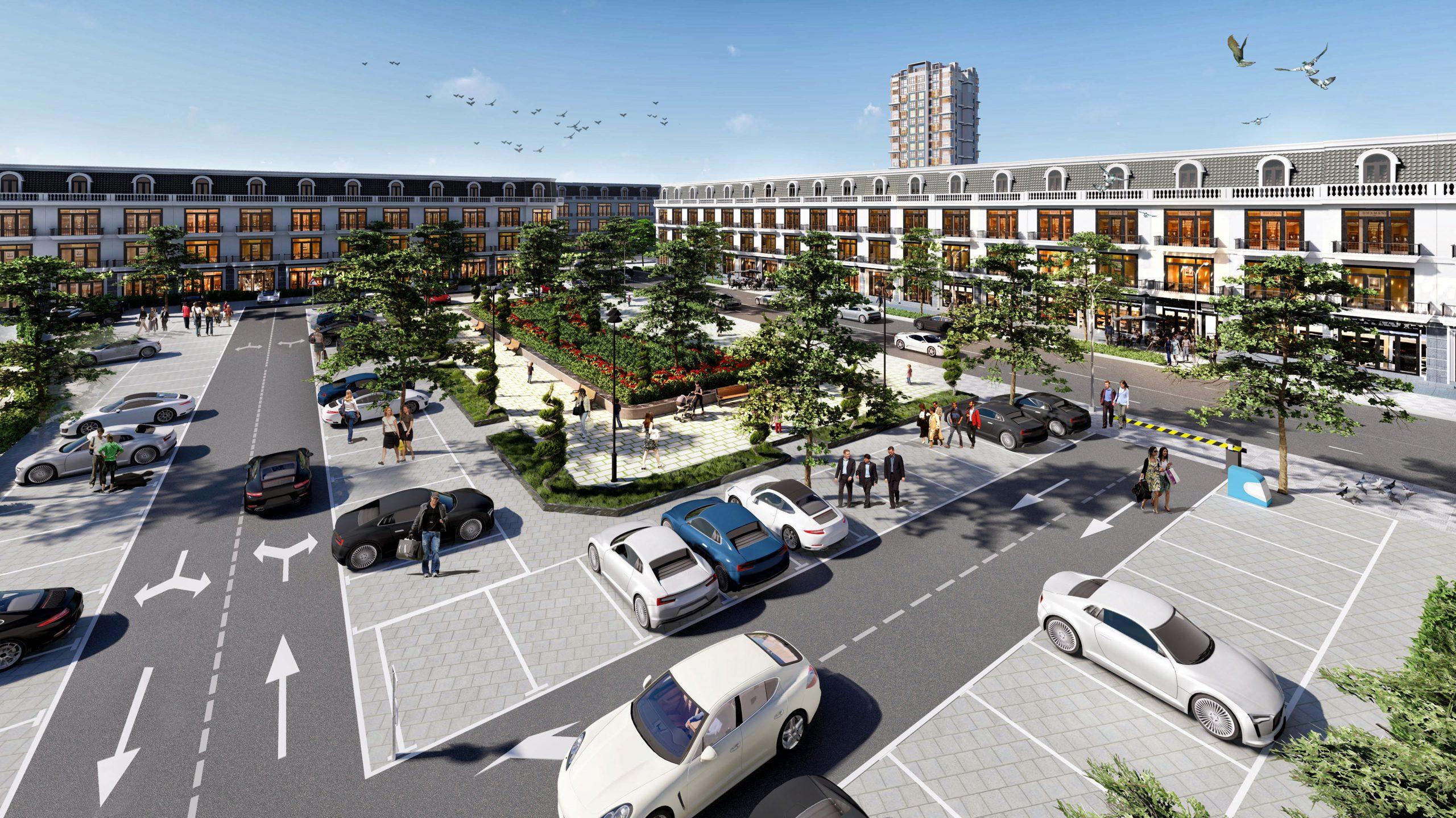 bãi đỗ xe dự án center city