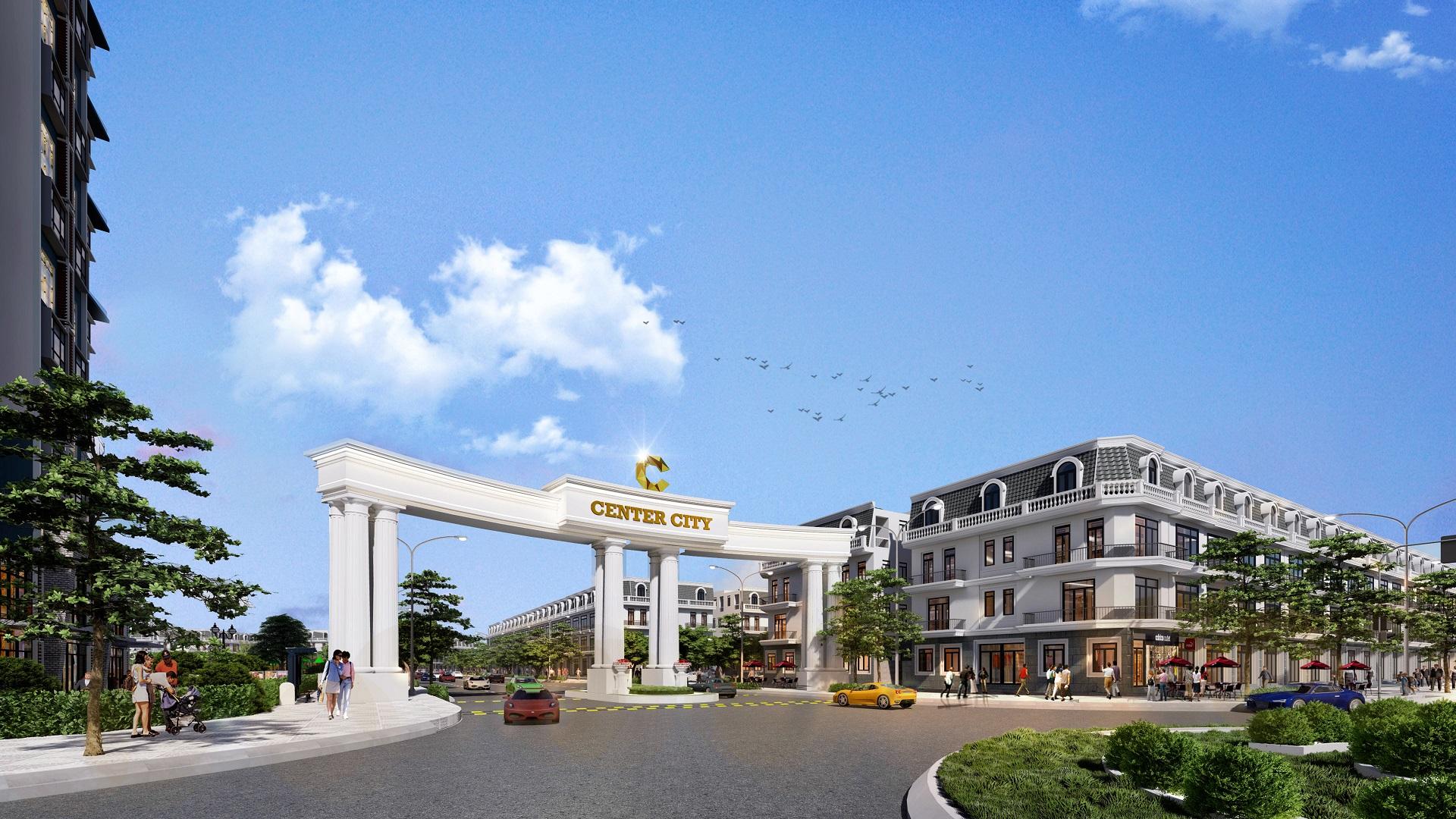 cổng chào dự án vĩnh yên center city