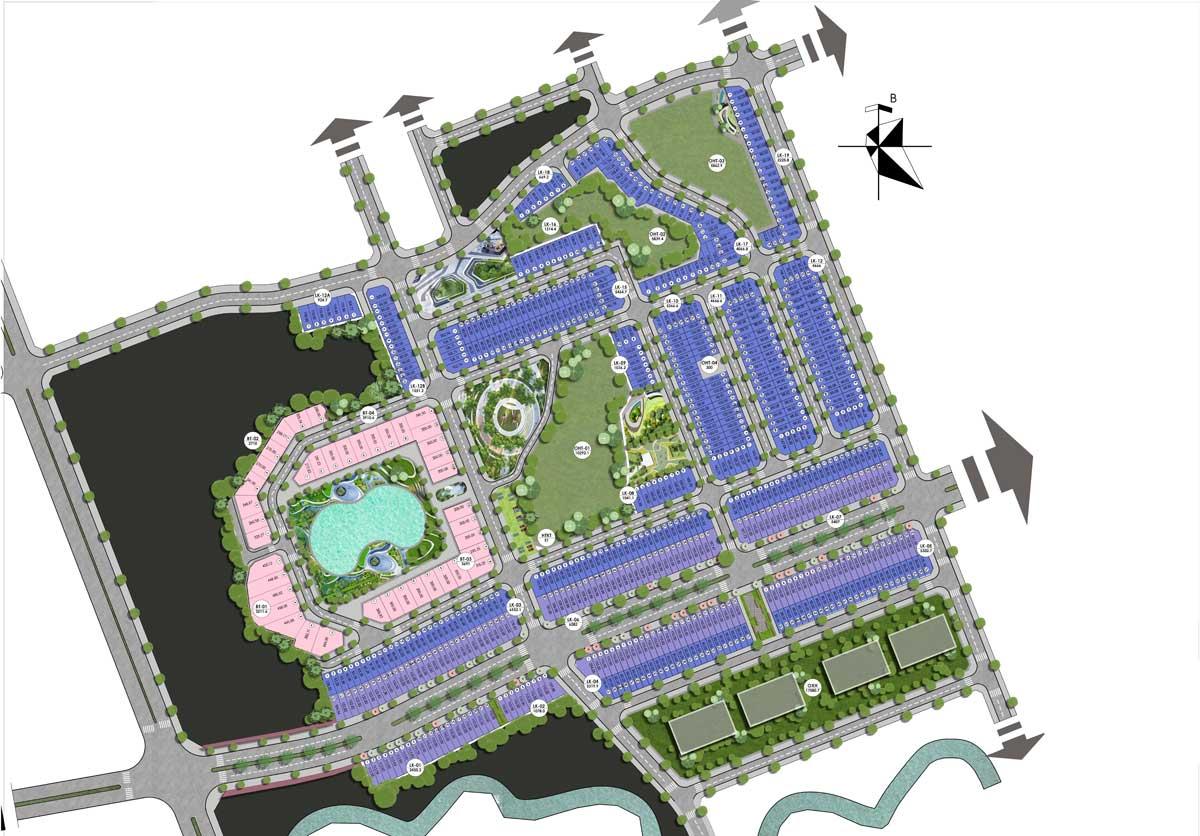 mặt bằng phân lô dự án kosy city beat thái nguyên