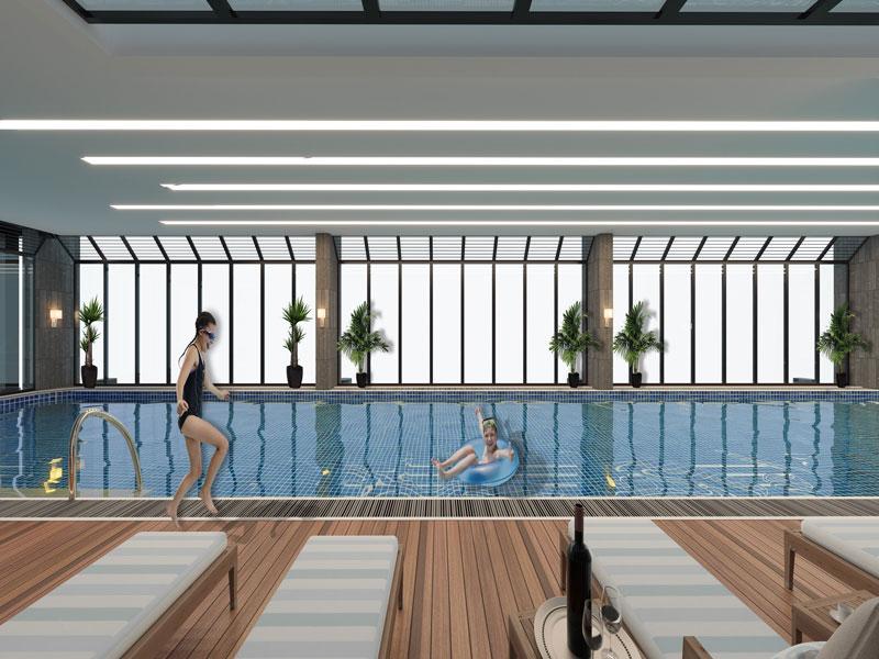 Bể bơi 4 mùa tại Sun Square Hạ Long
