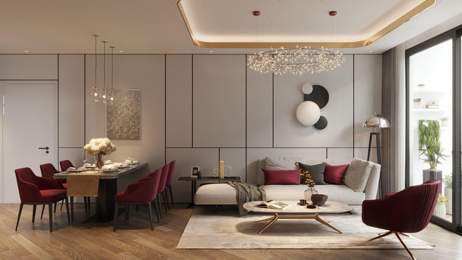 phòng khách dự án the ruby