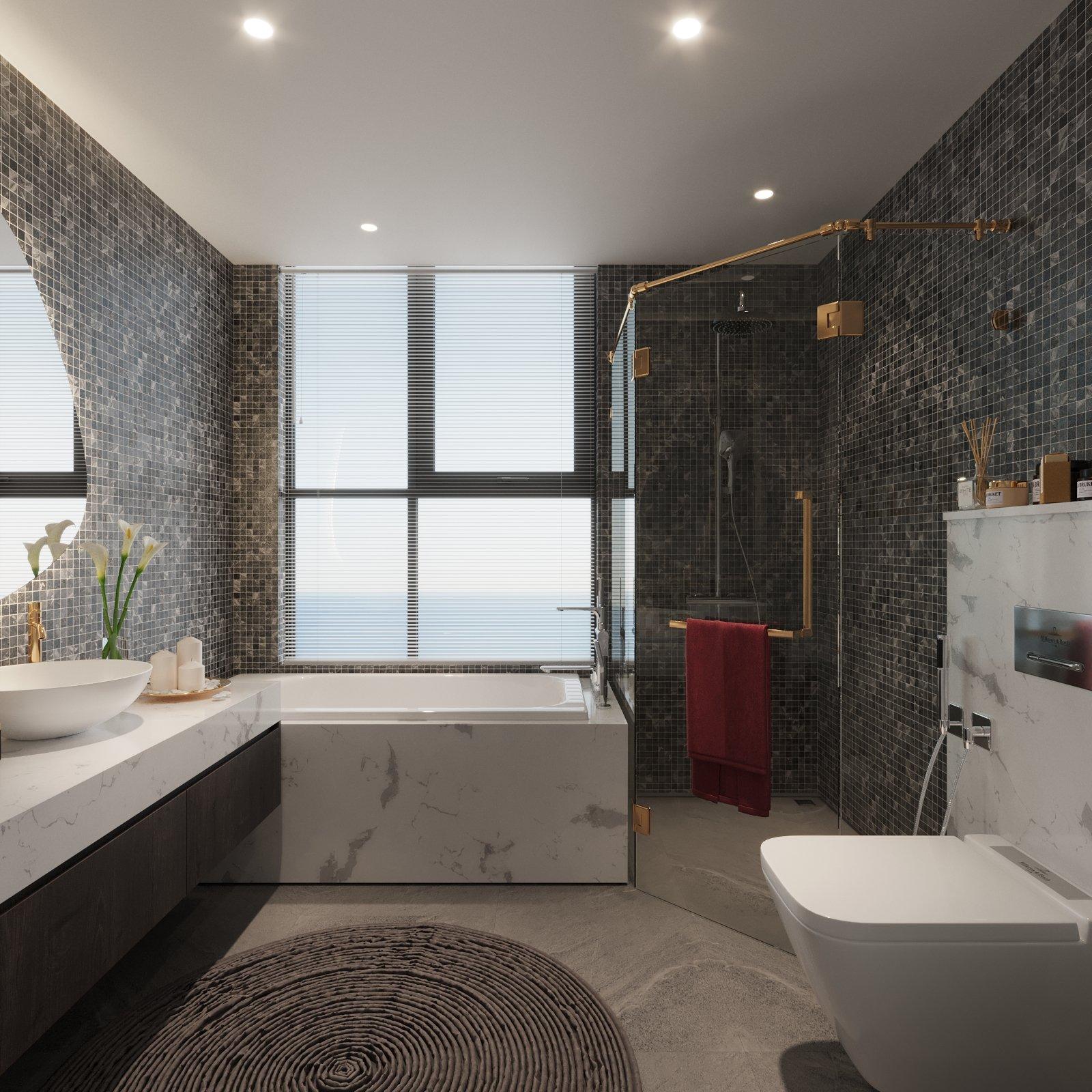 phòng vệ sinh dự án the ruby cao xanh hà khánh a