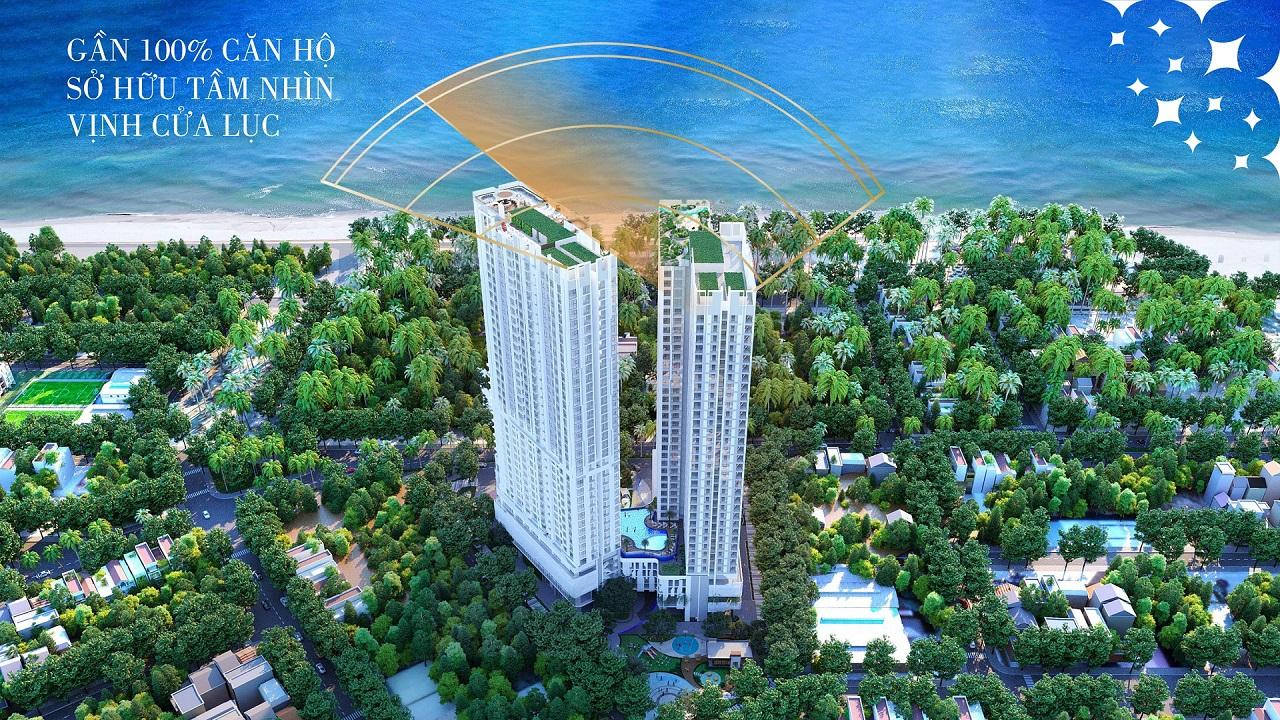 thiết kế 100% căn hộ view vịnh