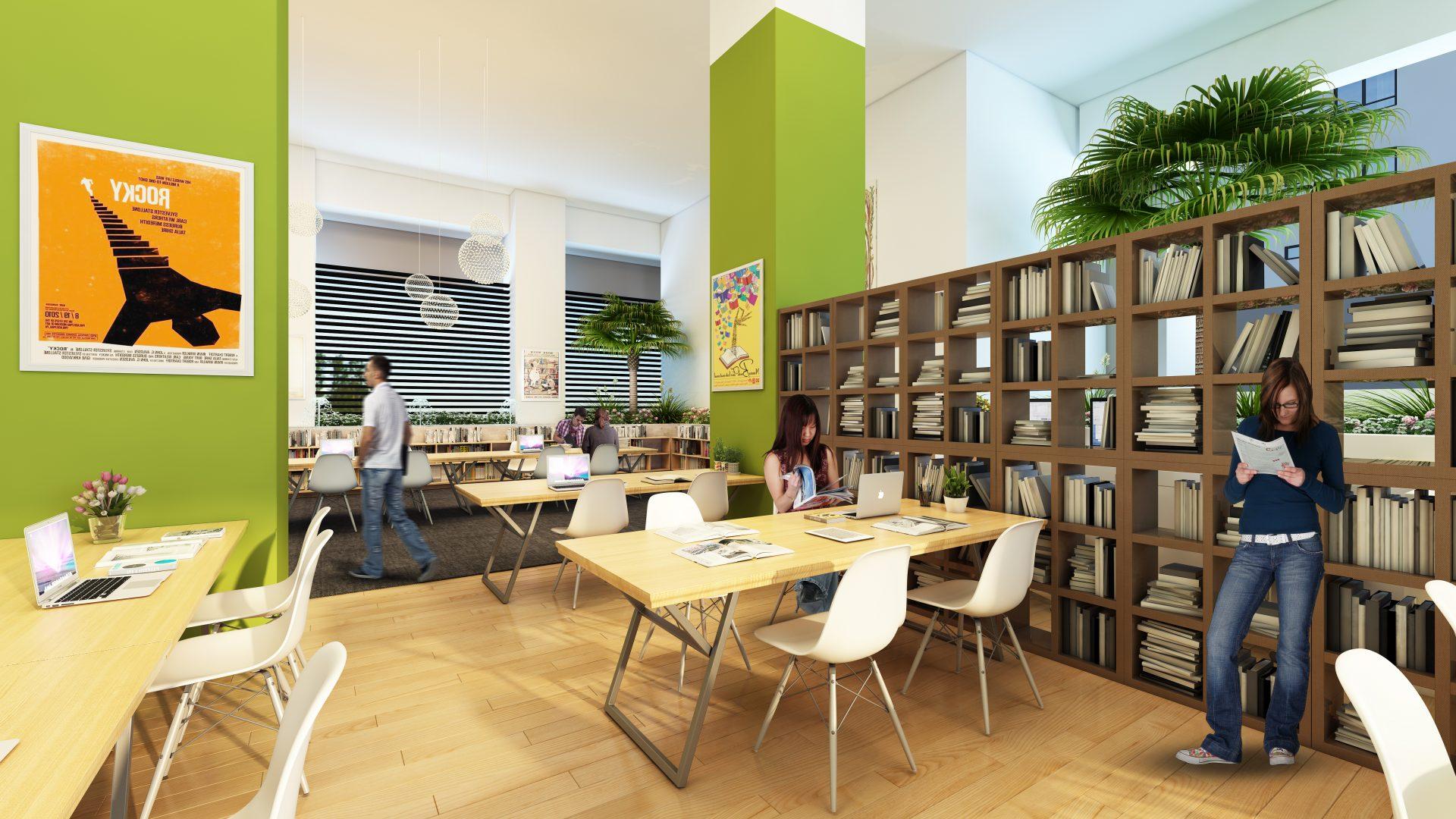 thư viện bể bơi dự án mandarin garden 2