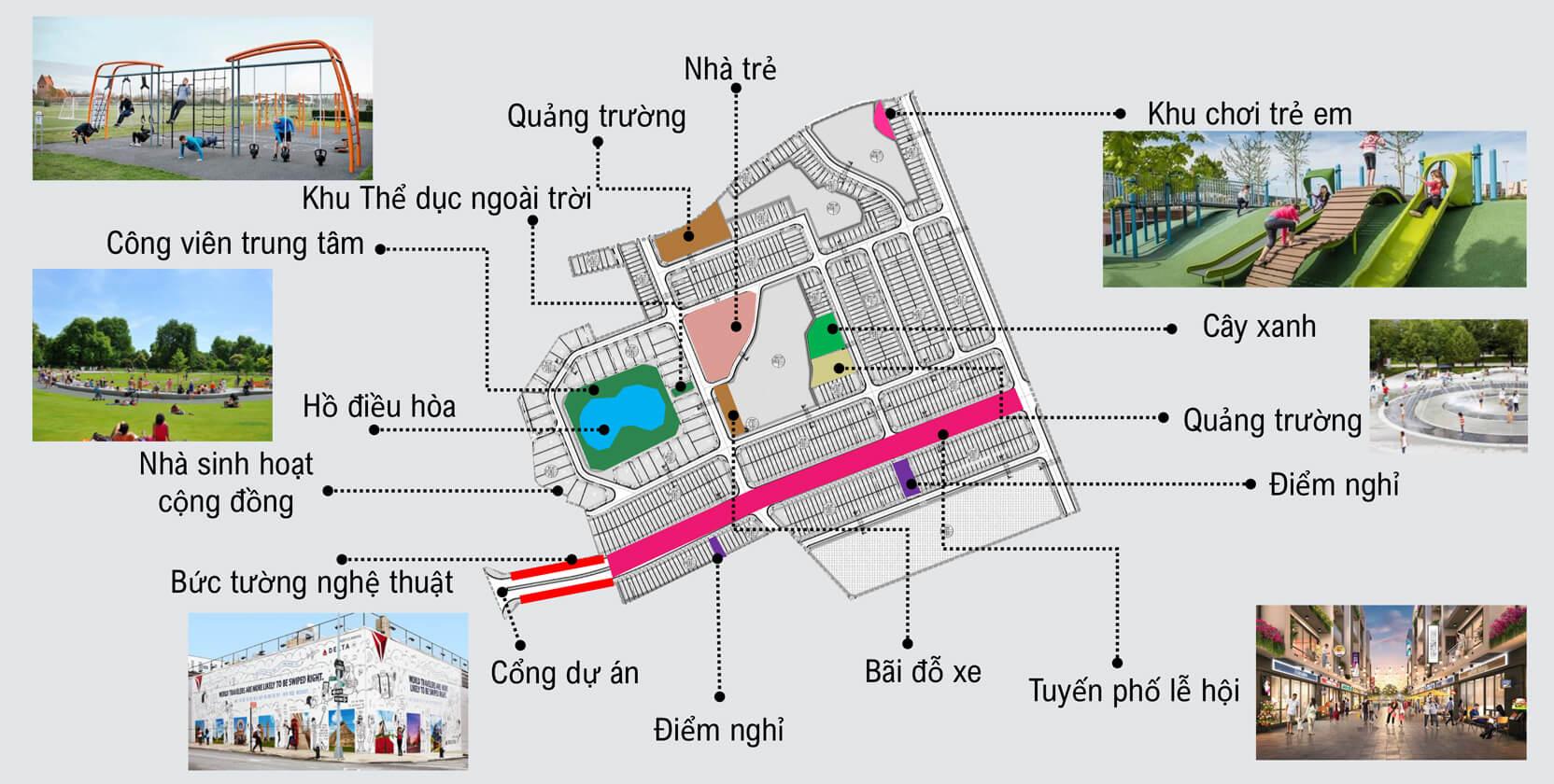 tiện ích dự án kosy city beat thái nguyên