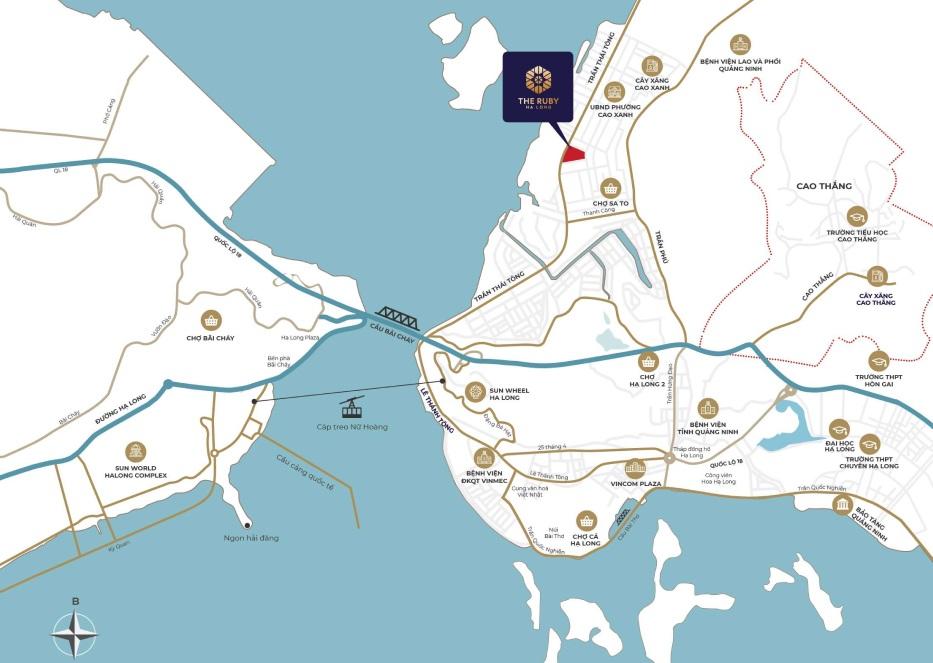 vị trí dự án the ruby hạ long