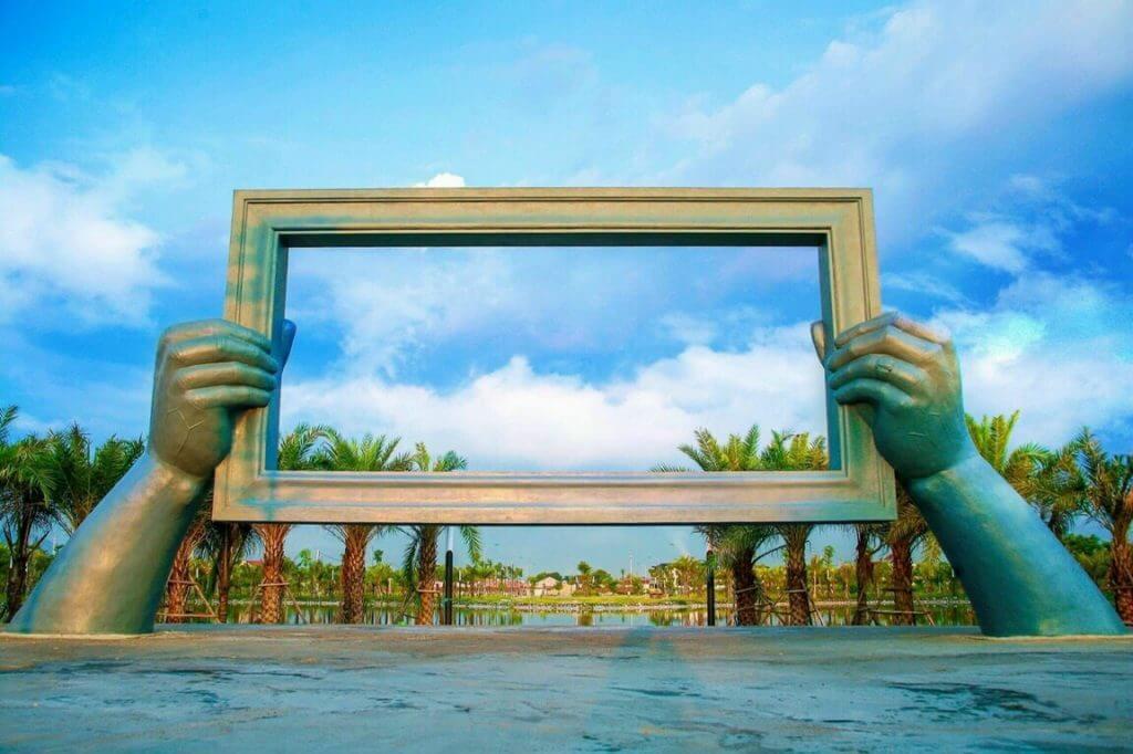hình ảnh thực tế dự án palm city chí linh