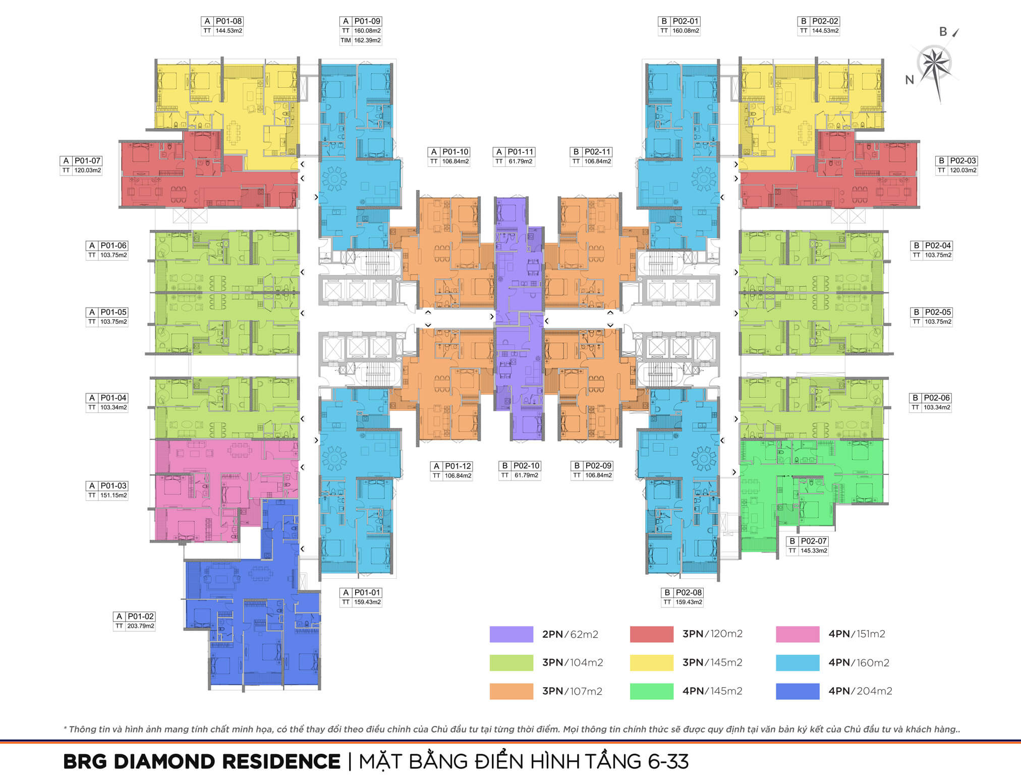 mặt bằng dự án brg diamond residence 25 lê văn lương