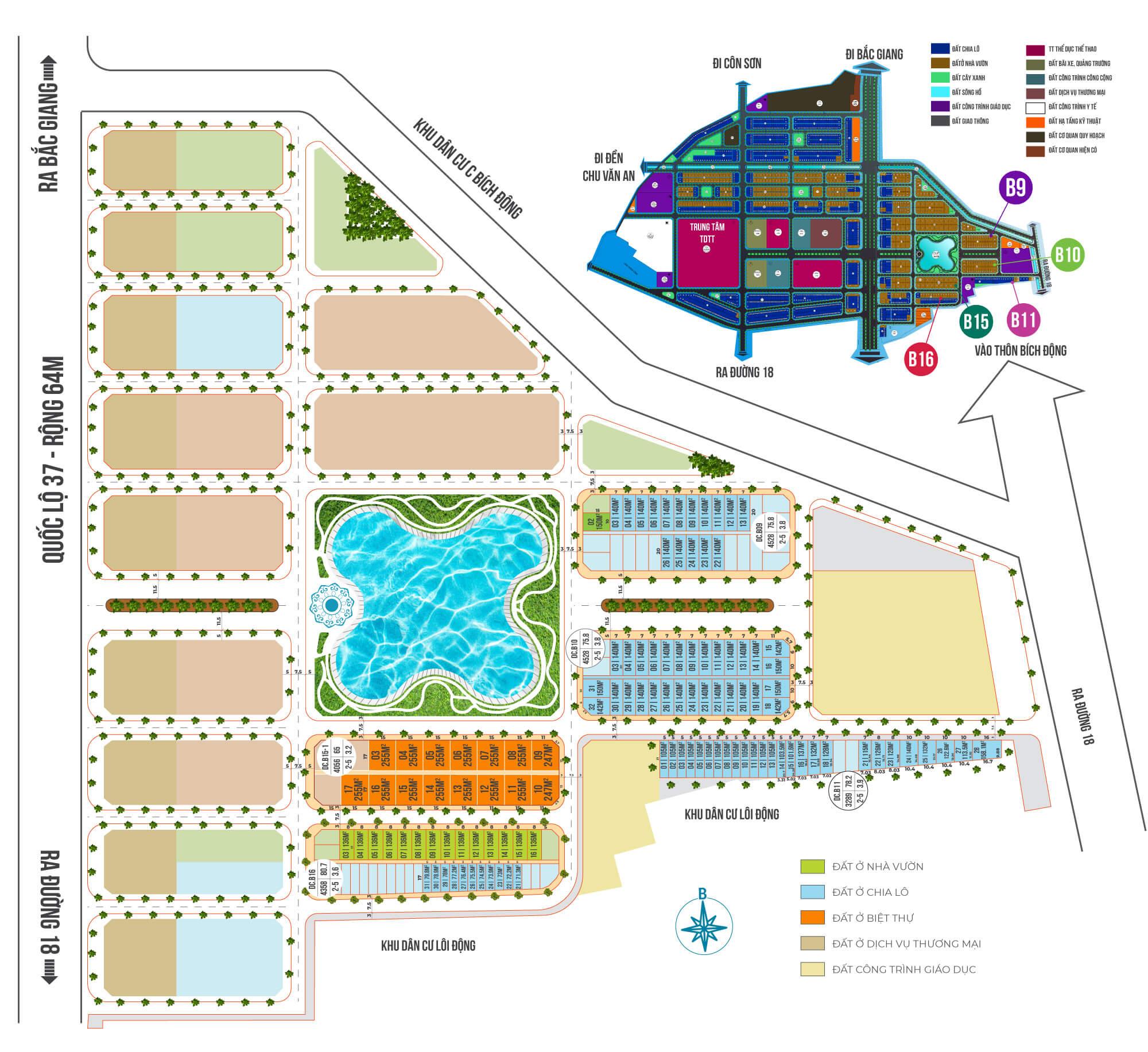 mặt bằng phân lô dự án chí linh palm city hải dương
