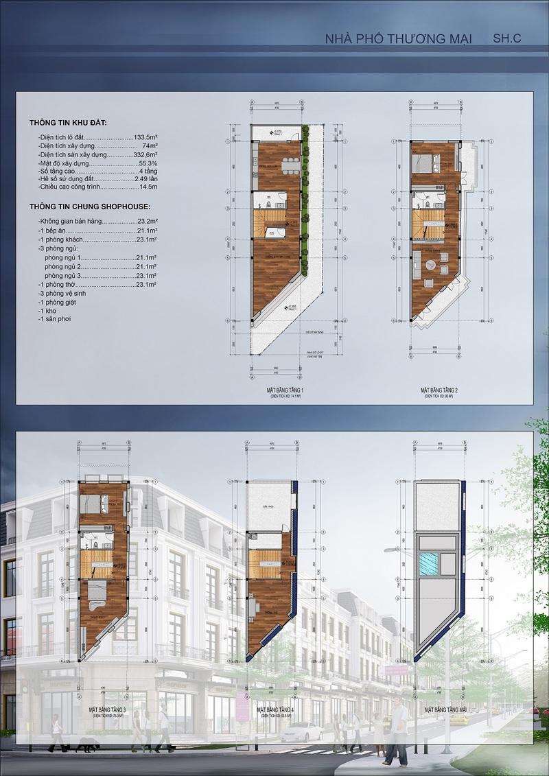 thiết kế shophouse mẫu 1