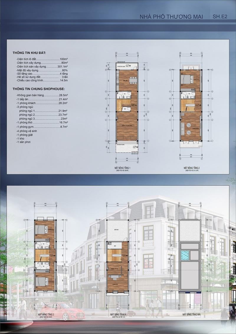 thiết kế shophouse mẫu 6