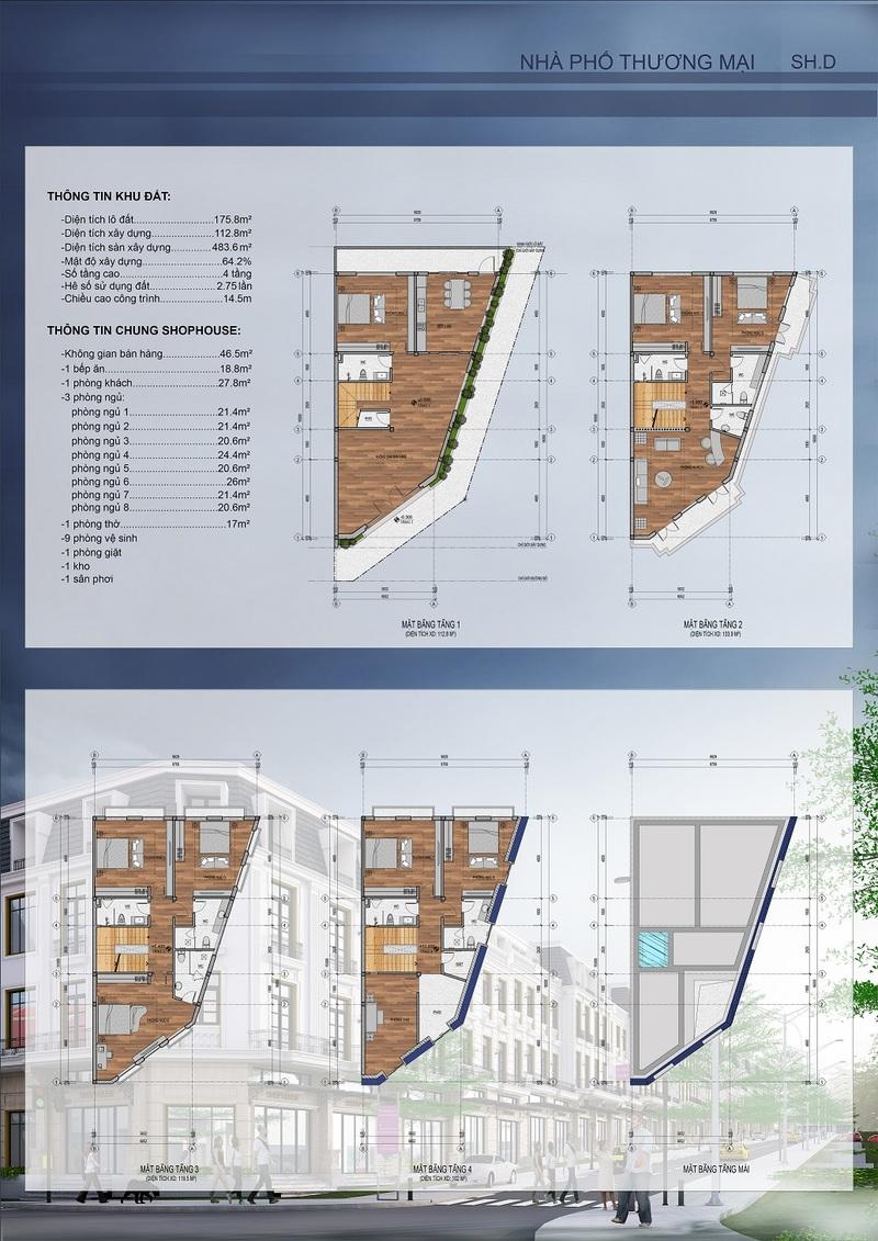 thiết kế shophouse mẫu 7