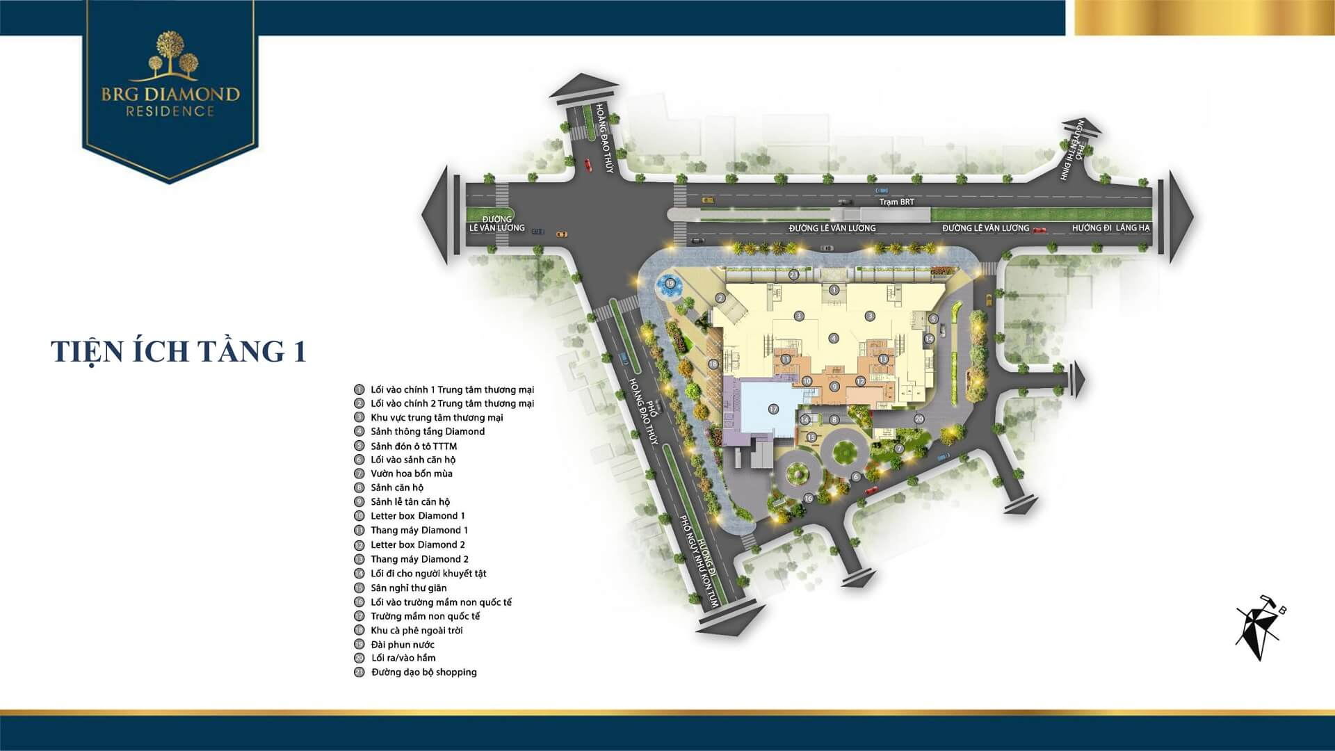 tiện ích tầng 1 dự án brg diamond residence