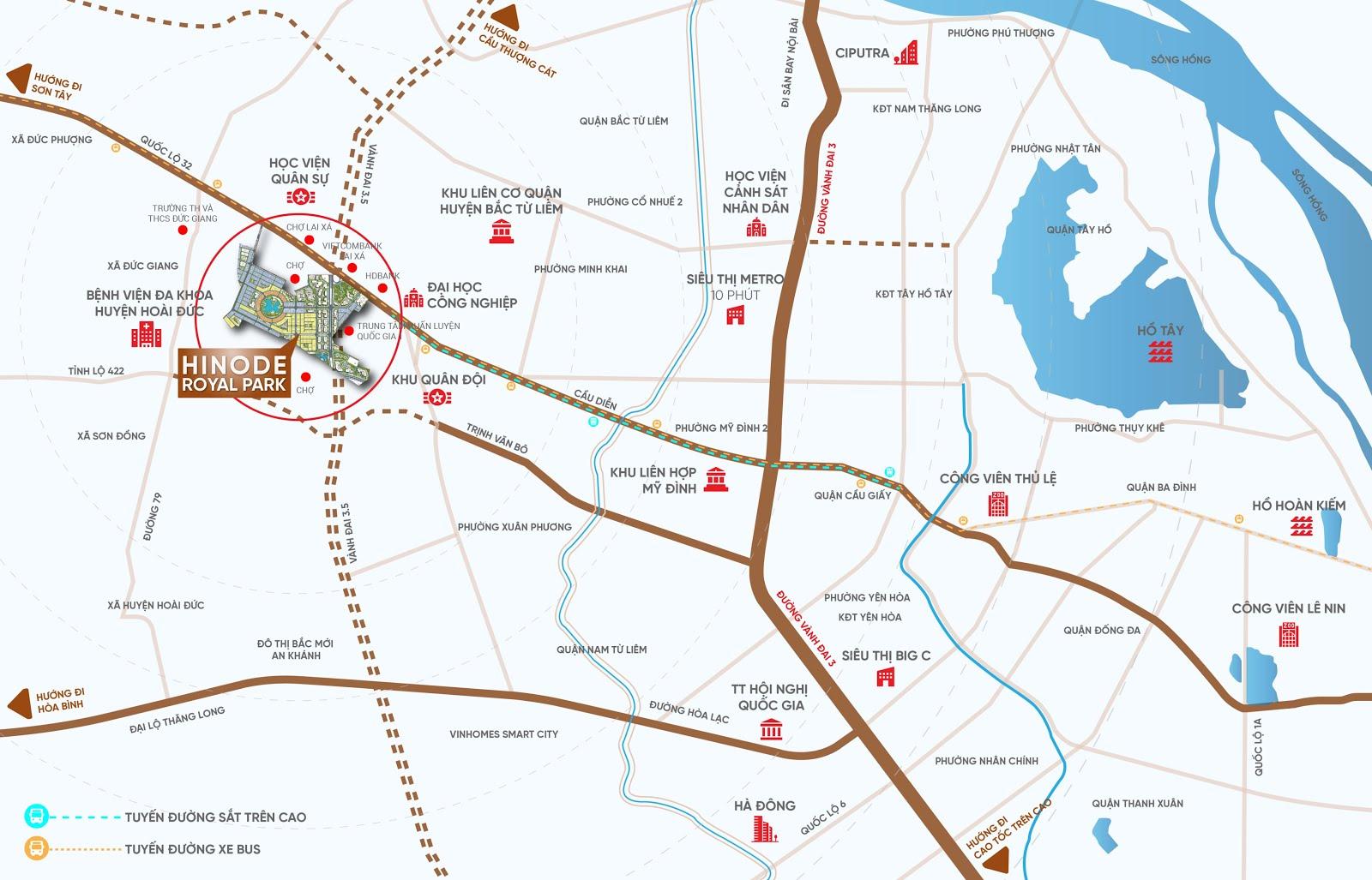 vị trí dự án hinode royal park