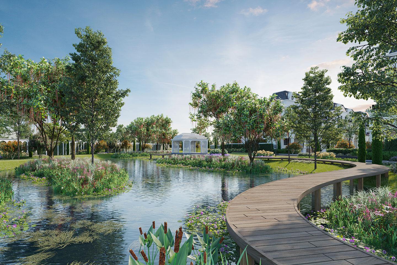 hồ nước dự án le jardin