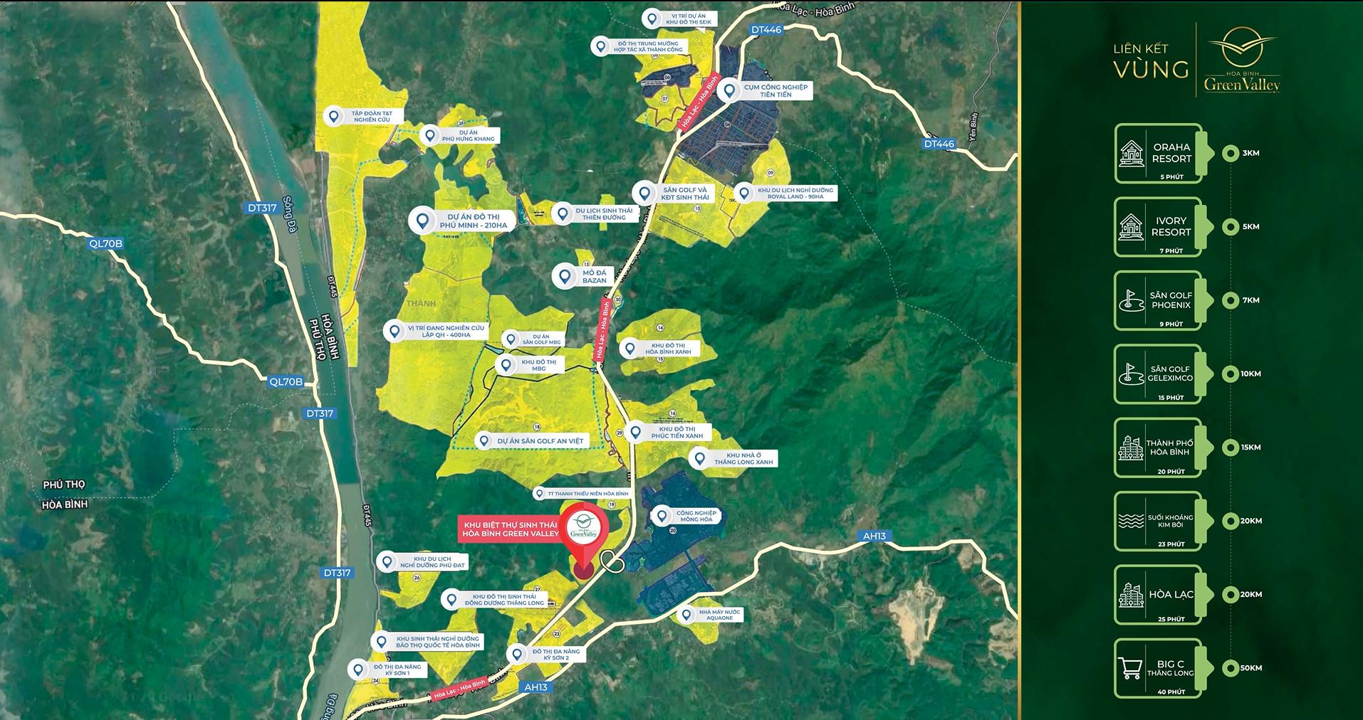 liên kết vùng dự án hòa bình green valley