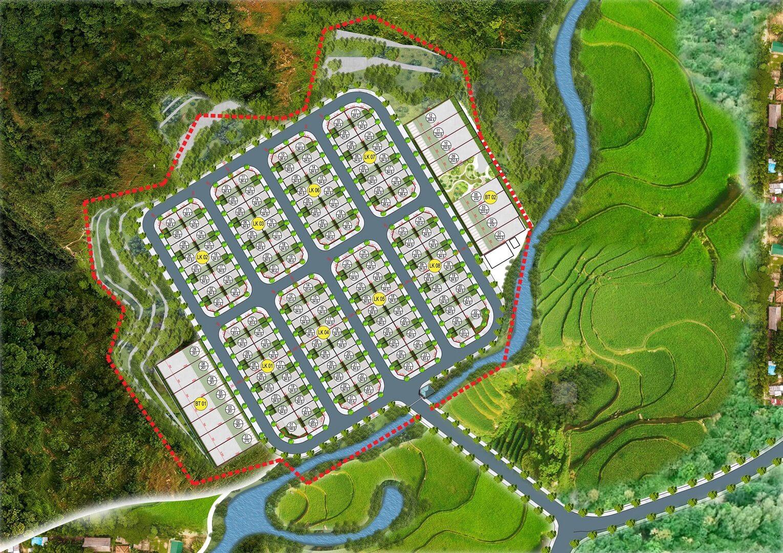 mặt bằng dự án hòa bình green valley