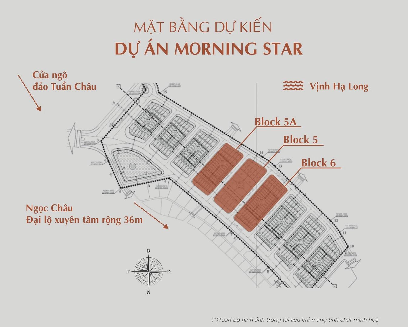mặt bằng dự án morning star hoàng long tuần châu