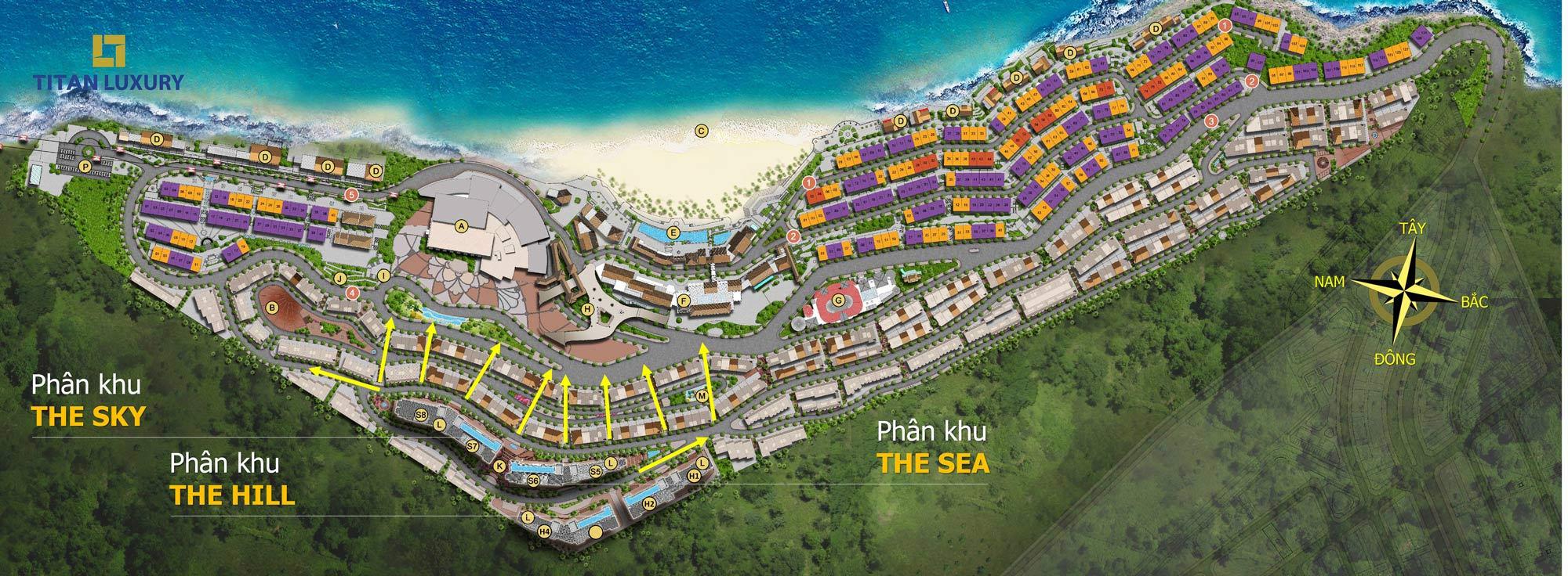 mặt bằng dự án sun grand city hillside residence phú quốc