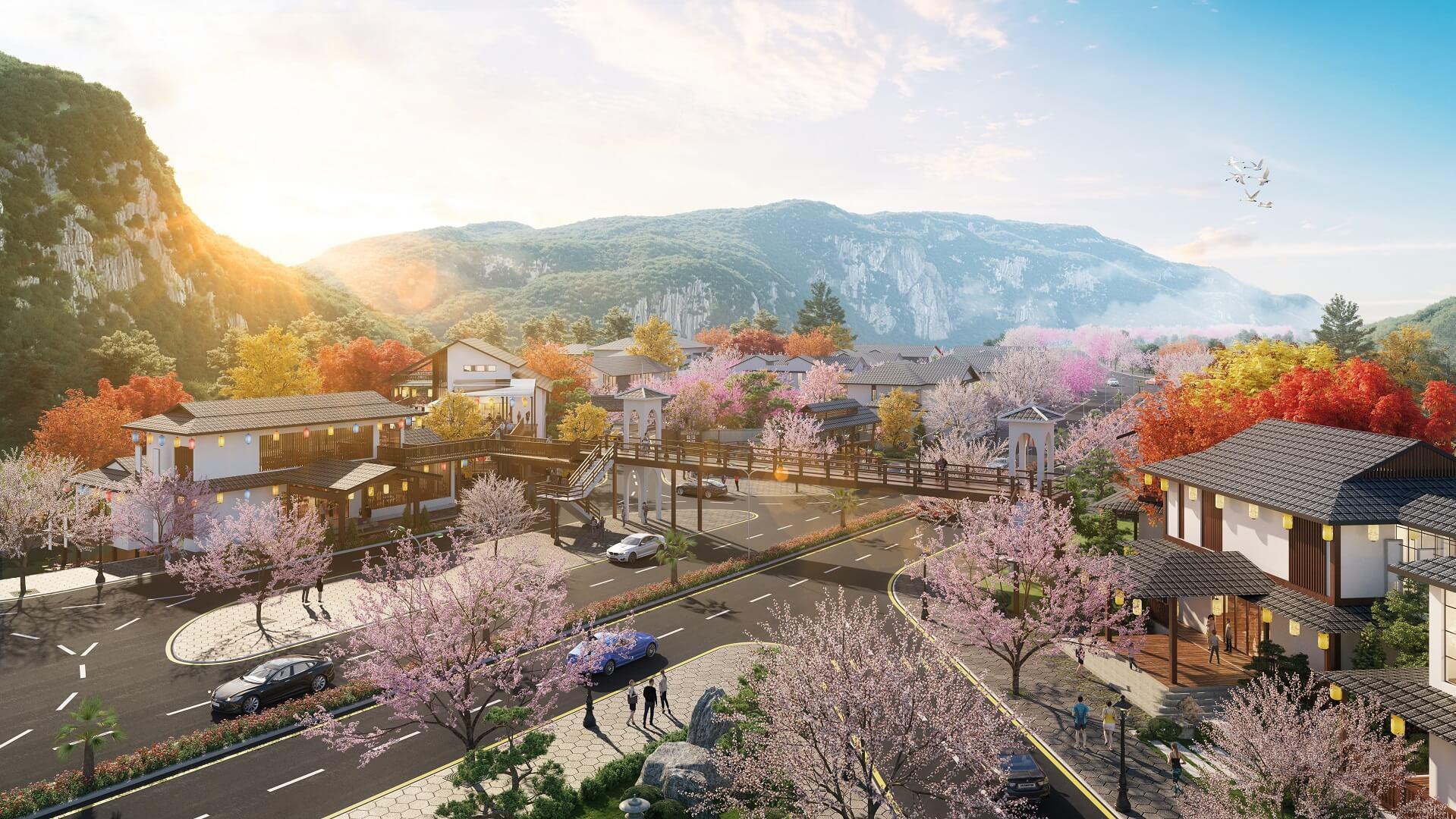 tiện ích dự án sun onsen village