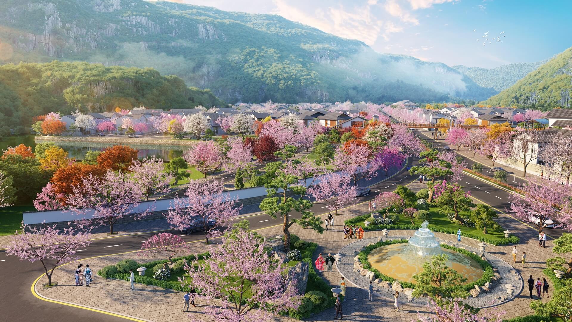 tiện ích dự án sun onsen quang hanh