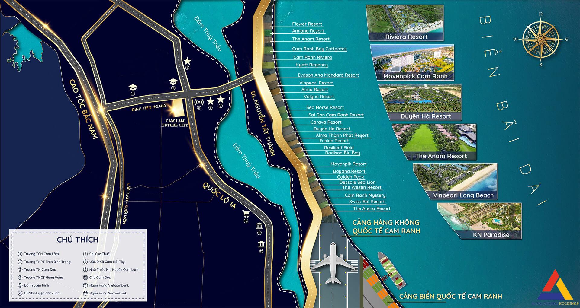 vị trí dự án cam lâm future city