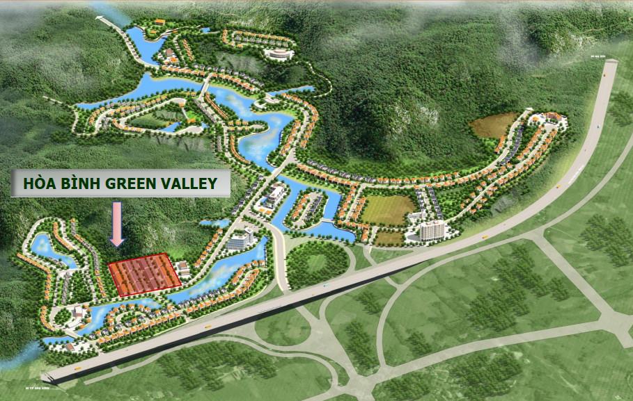 vị trí dự án hòa bình green valley