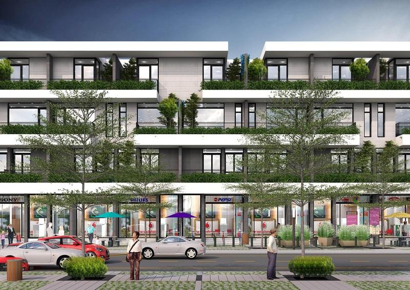shophouse dự án the spring town xuân mai