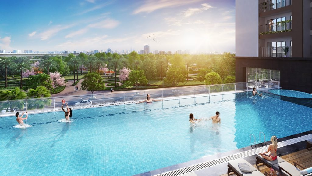 bể bơi dự án eco smart city long biên