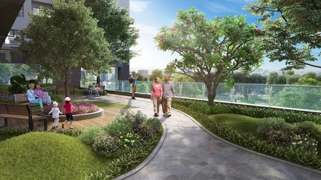 đường dạo dự án eco smart city long biên