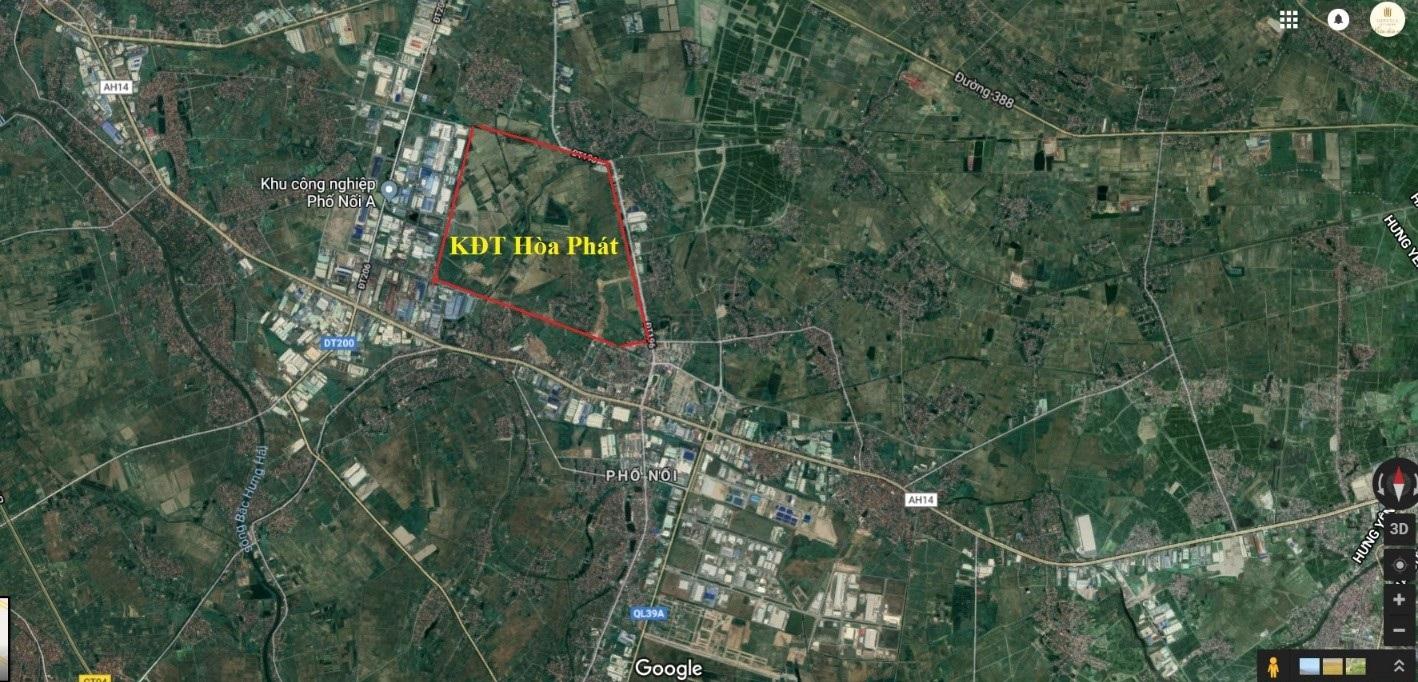 vị trí dự án hòa phát forestar mỹ hào hưng yên