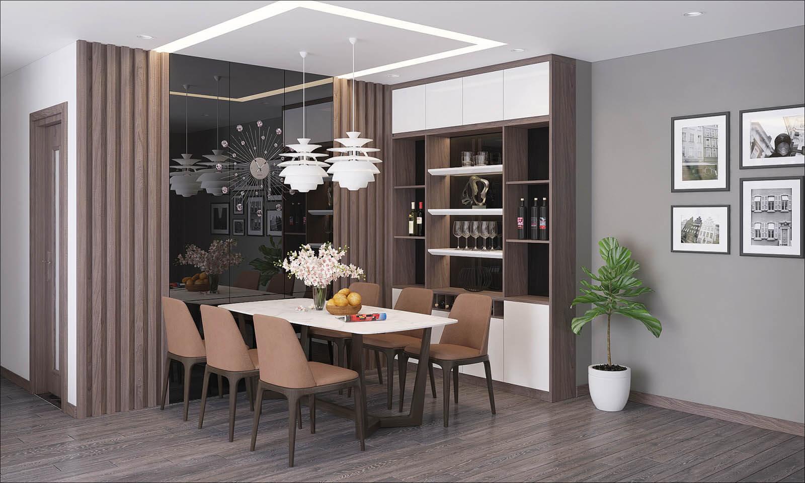 phòng ăn căn hộ eco smart city