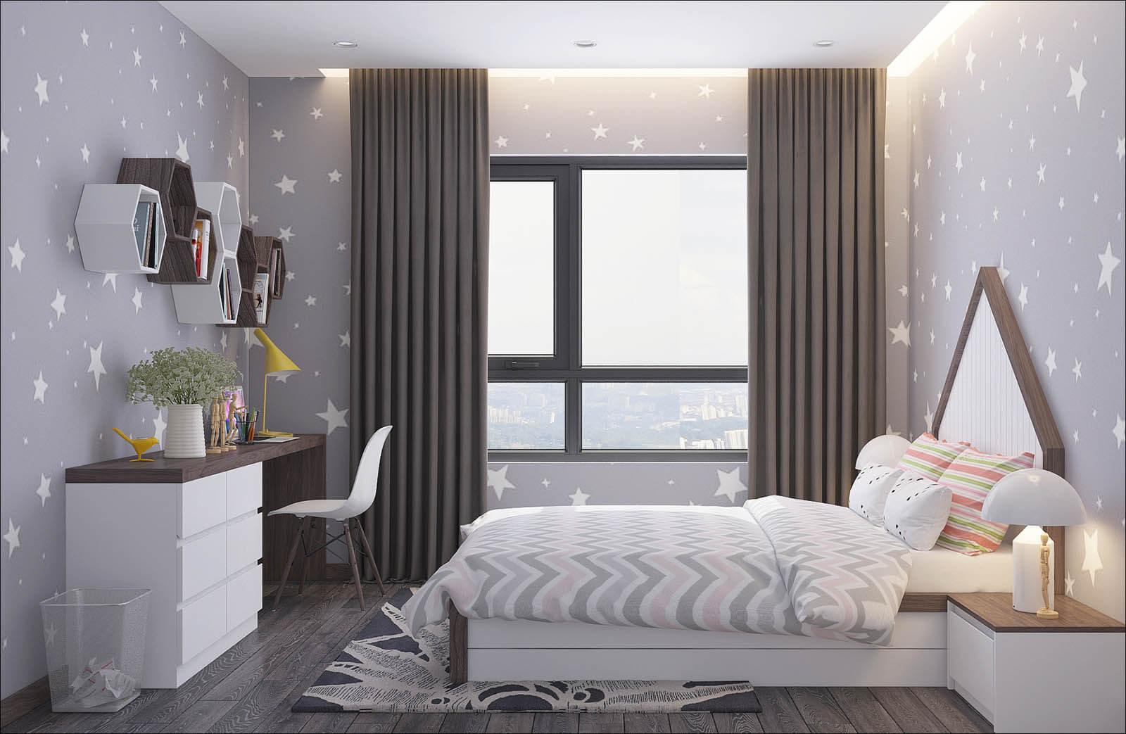 phòng ngủ căn hộ eco smart city